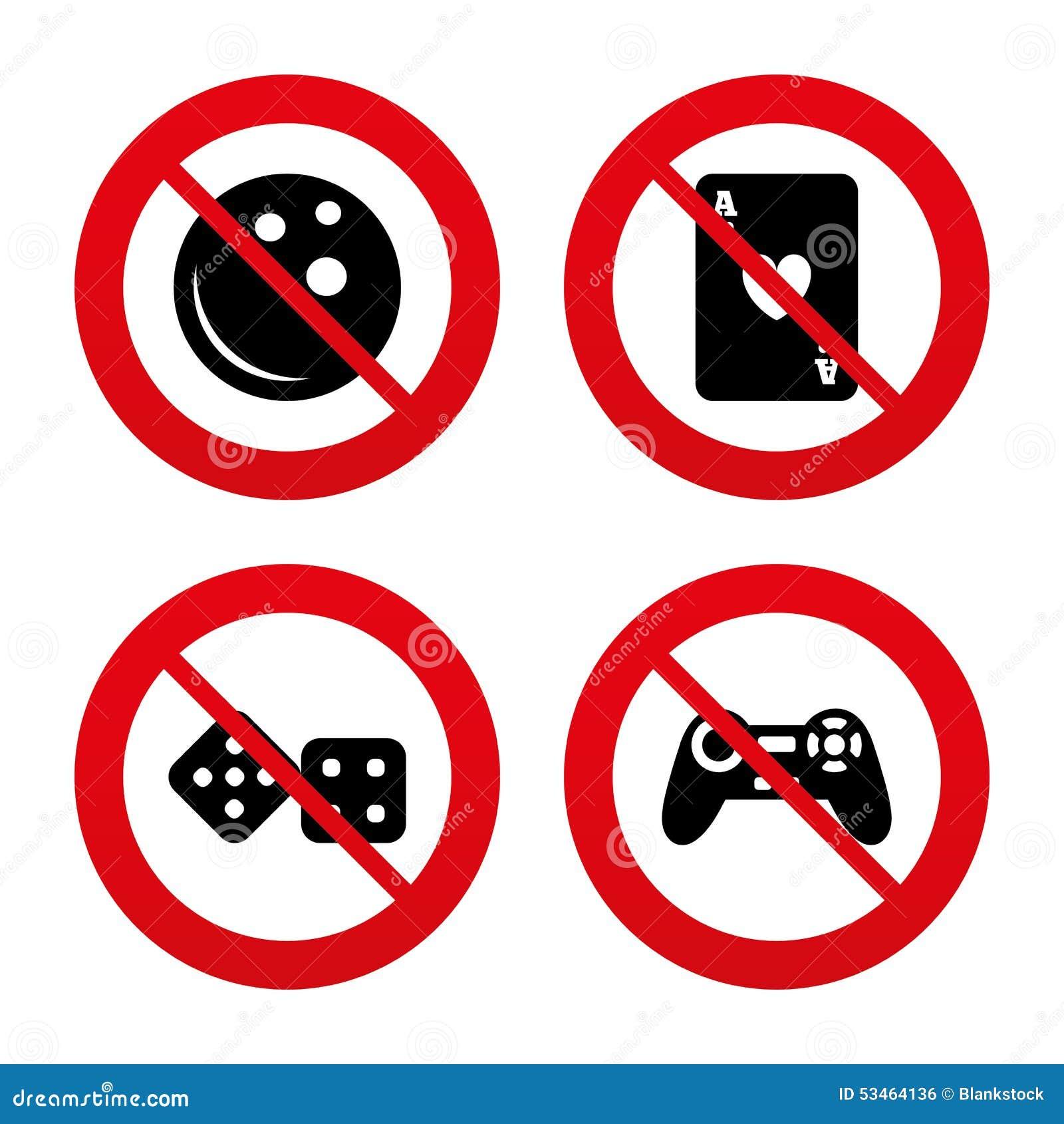 Bowlingspiel- und Kasinozeichen Videospielsteuerknüppel