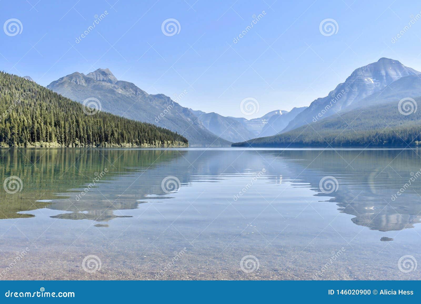 Bowmanu lodowa Jeziorny park narodowy, Montana