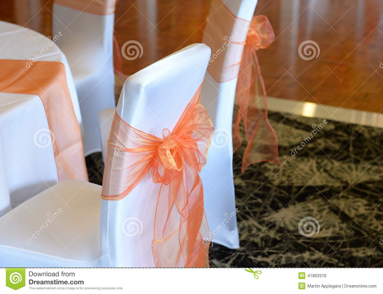 Download Bows on wedding chairs stock photo. Image of decorative - 41863316 & Bows on wedding chairs stock photo. Image of decorative - 41863316