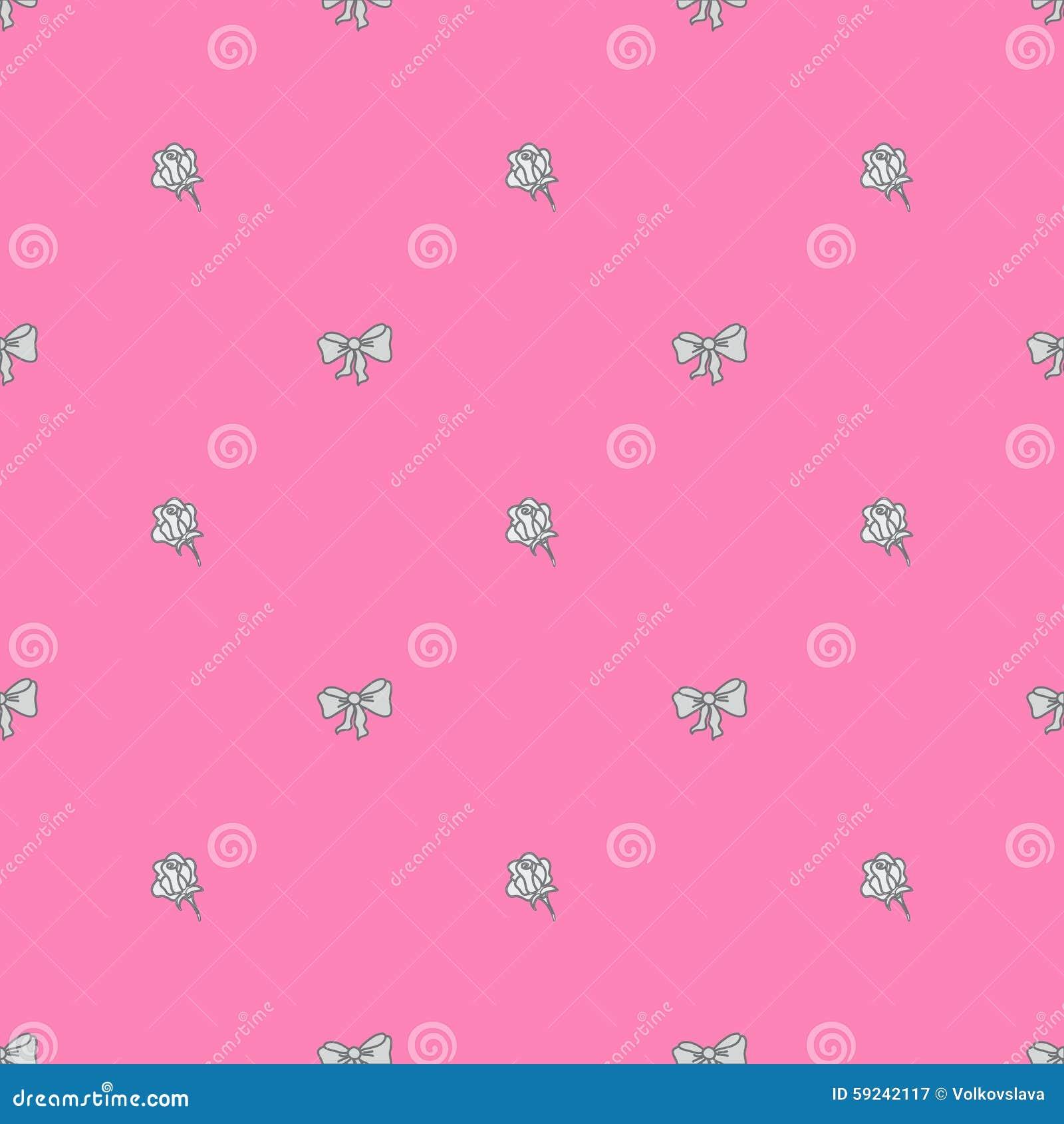 Bowtie y rosas inconsútiles del modelo en colores en colores pastel