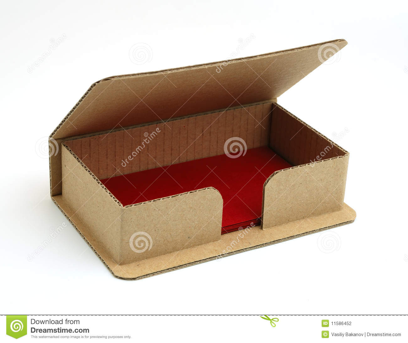 Box for business cards. stock photo. Image of white, paper - 11586452