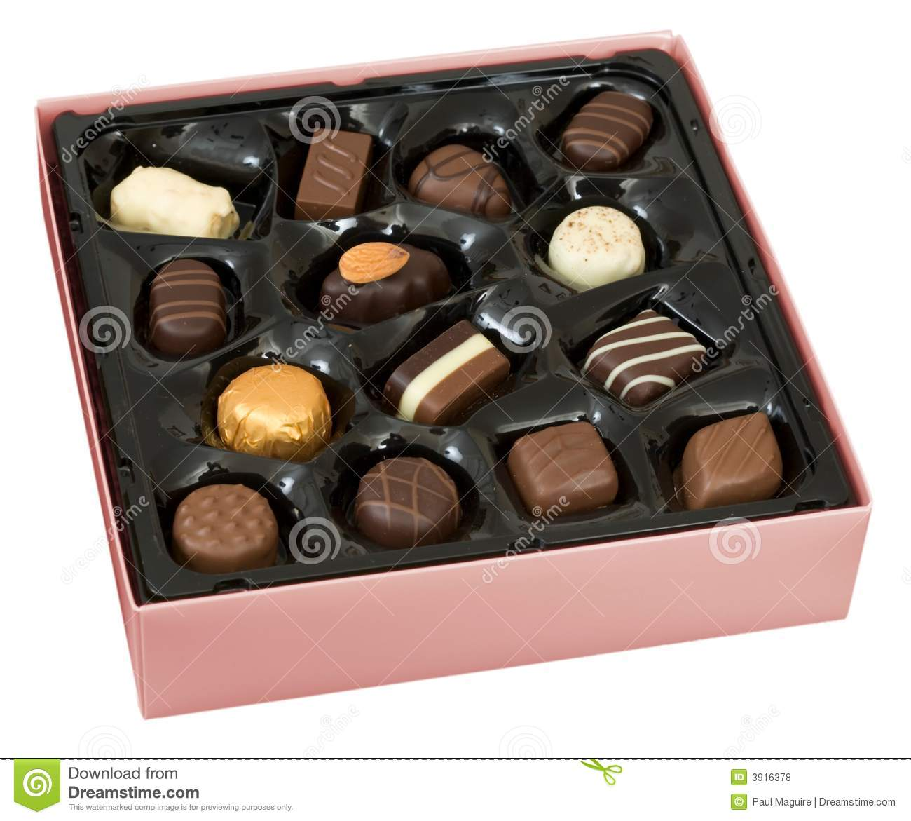Box Of Chocolates Royalty Free Stock Photos - Image: 3916378
