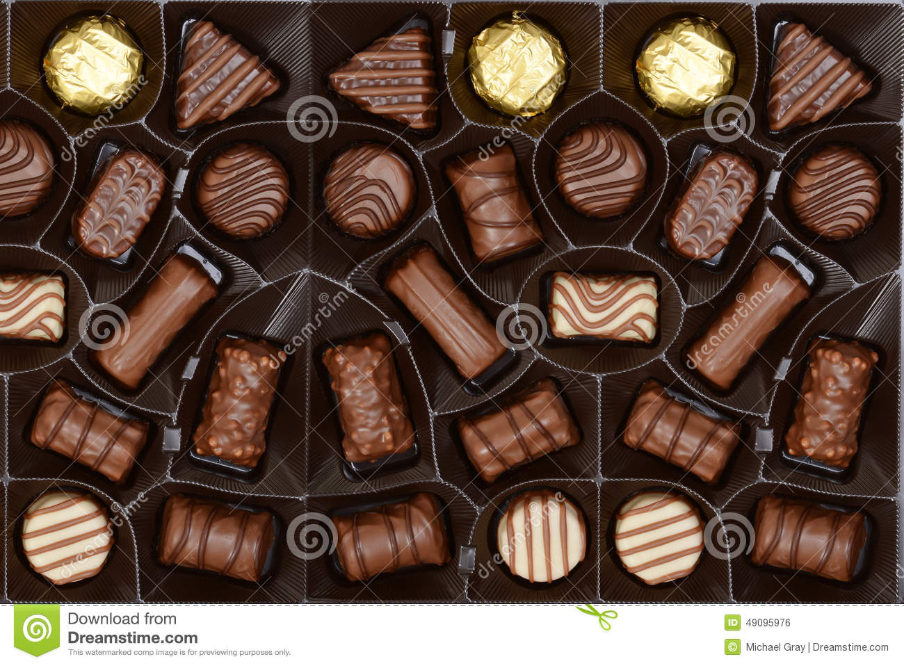 Box Of Chocolates Background Stock Photo - Image: 49095976