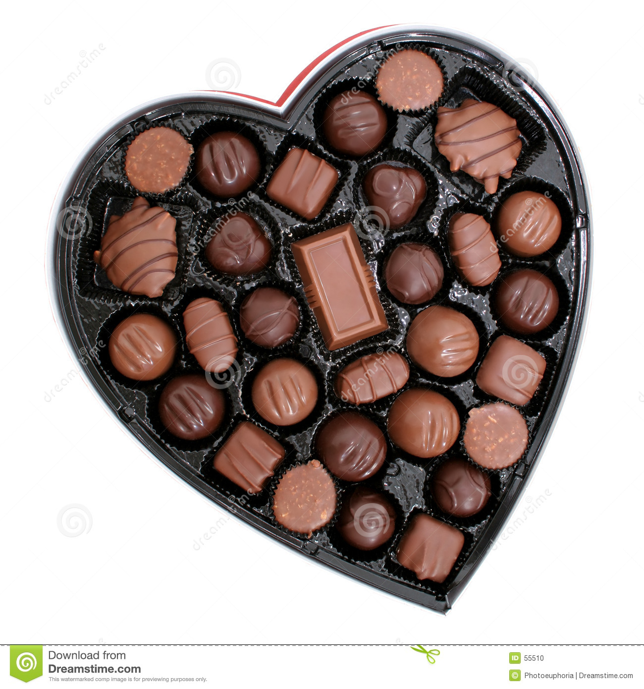 Box Of Chocolates In A Heart Shape (8.2mp Image) Stock Photo ...