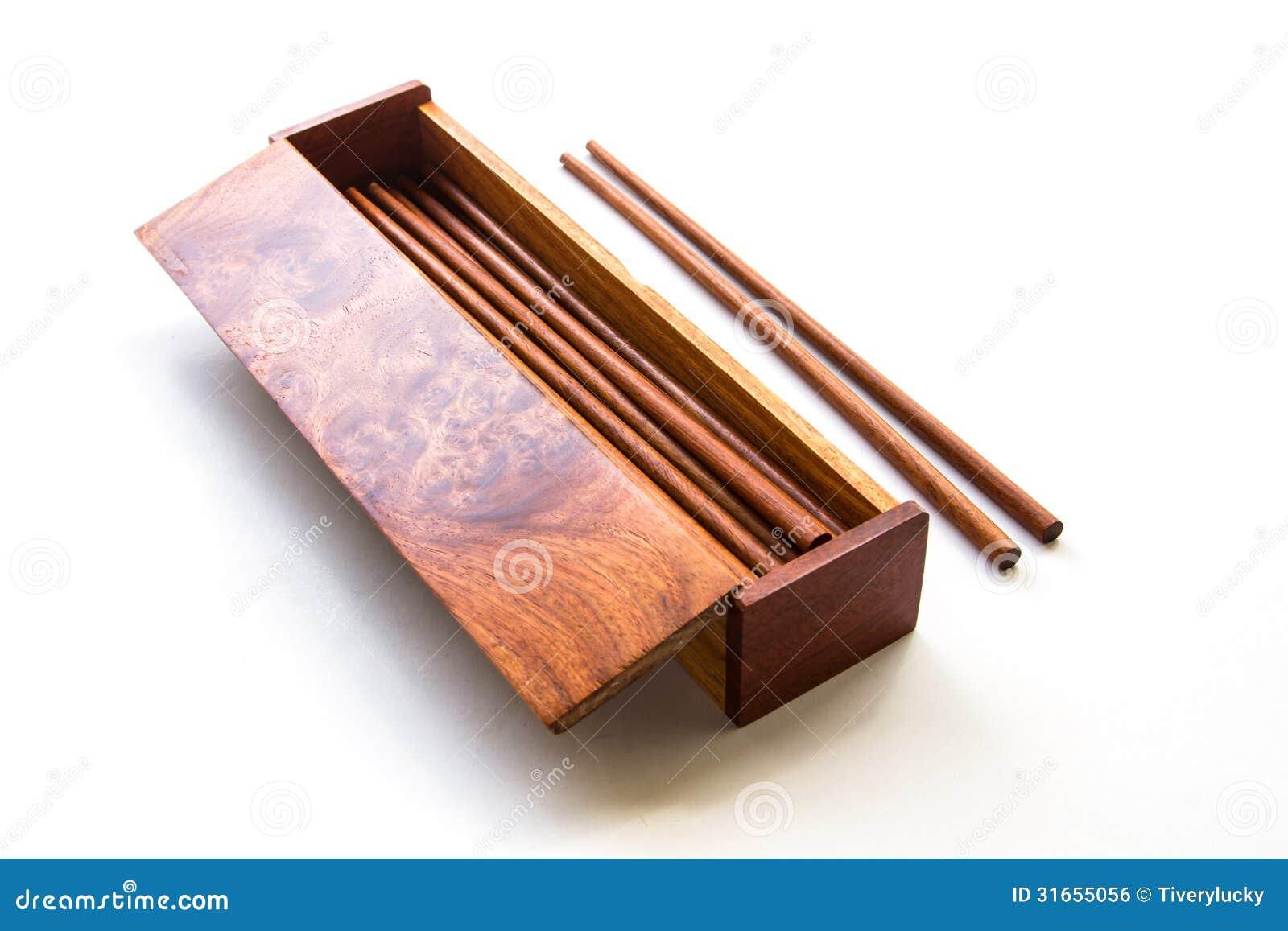 Chinese Food Box And Chopsticks