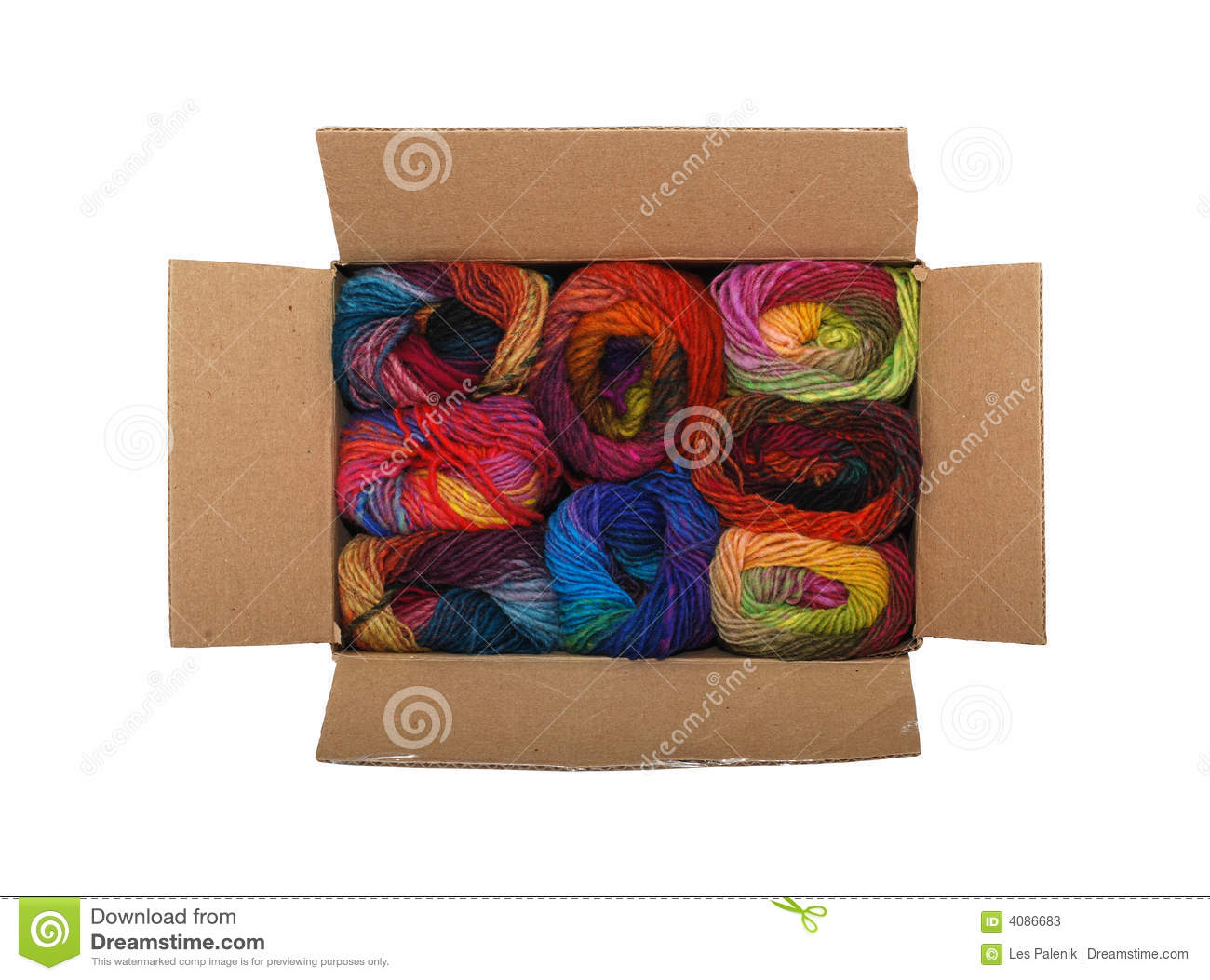 box of colorful yarn stock photos image 4086683. Black Bedroom Furniture Sets. Home Design Ideas