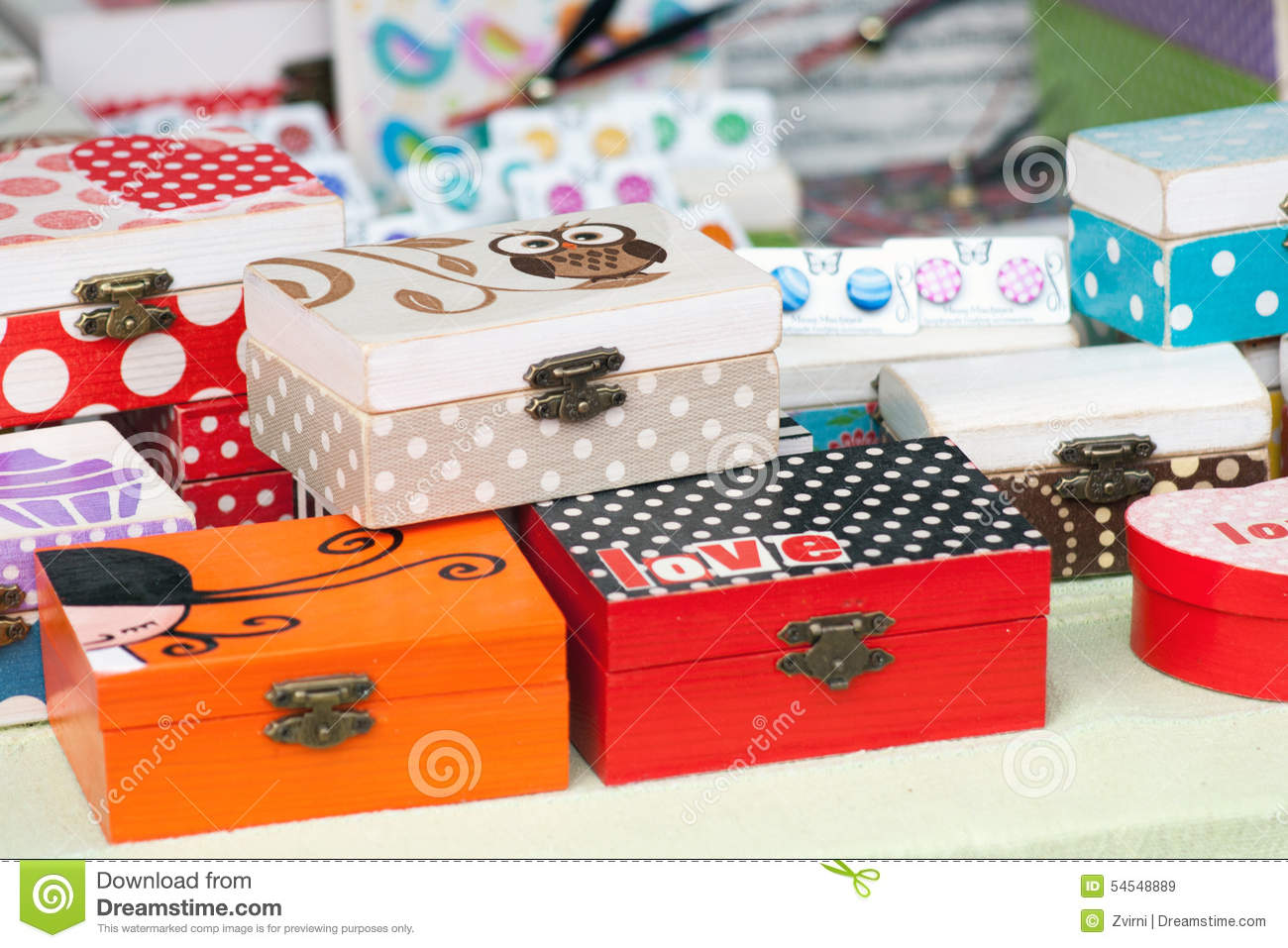 Box decorated by decoupage