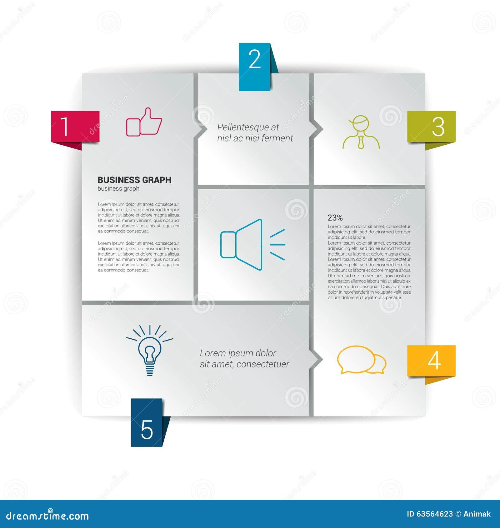 Box Diagram For Infographics. Web Diagram Template. Stock Vector ...