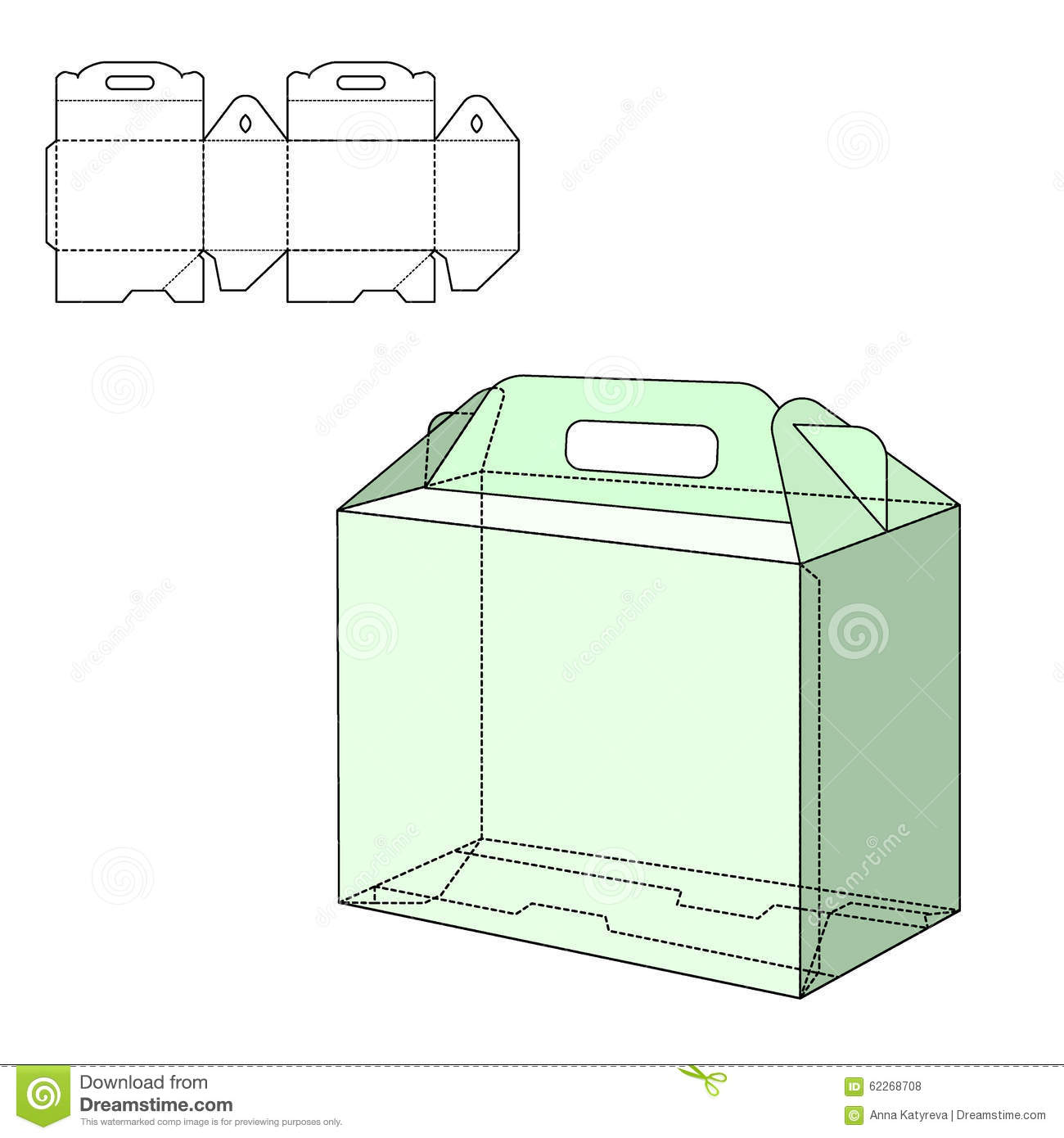 Line Art Box Design : Box die cut stock vector image