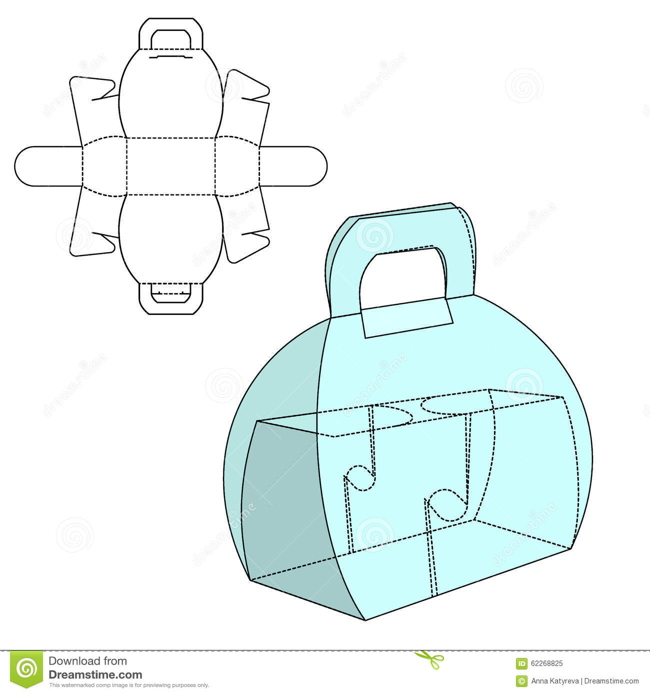 box die cut stock vector illustration of concept present 62268825