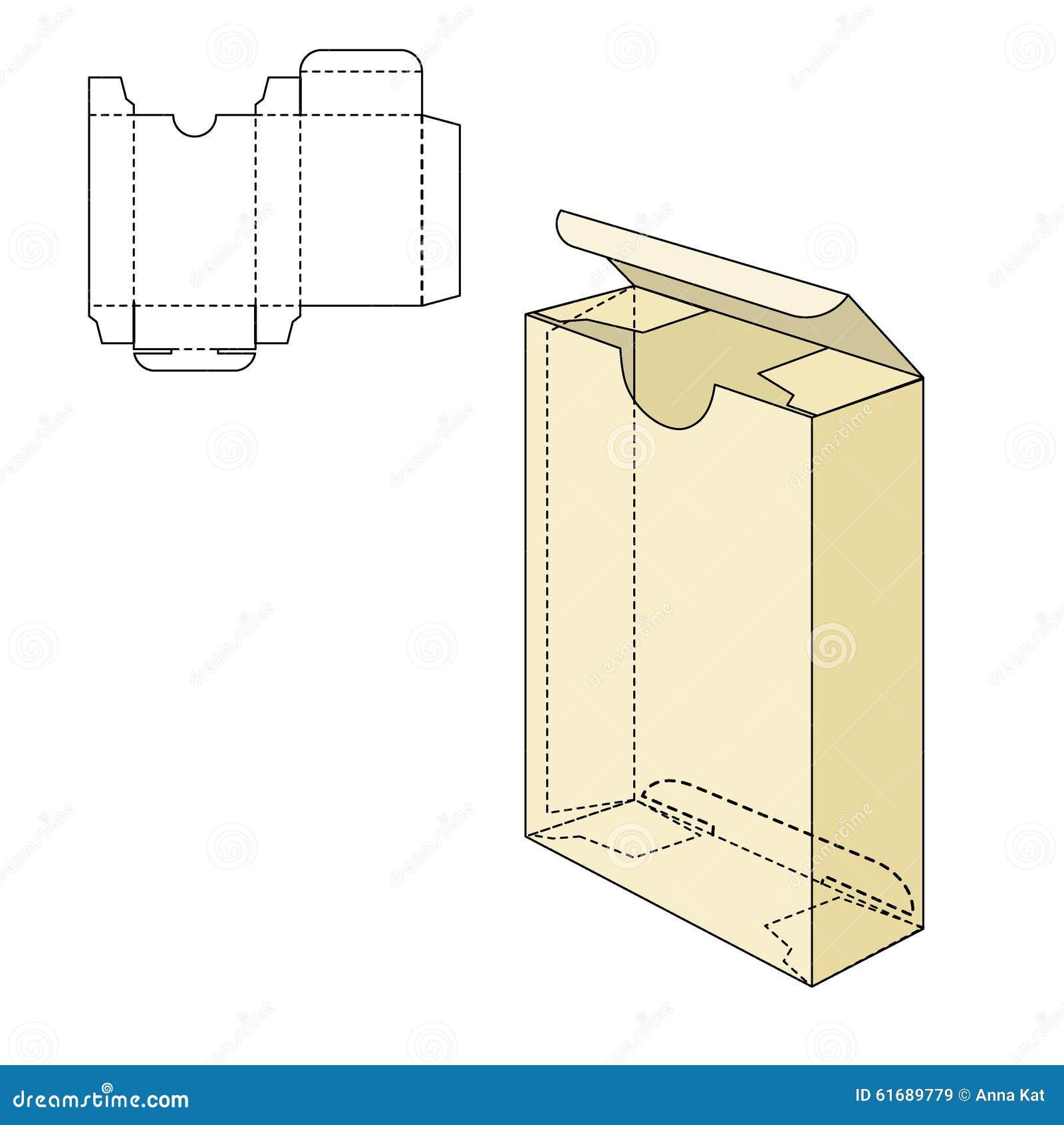 box die line stock vector illustration of blueprint 61689779. Black Bedroom Furniture Sets. Home Design Ideas
