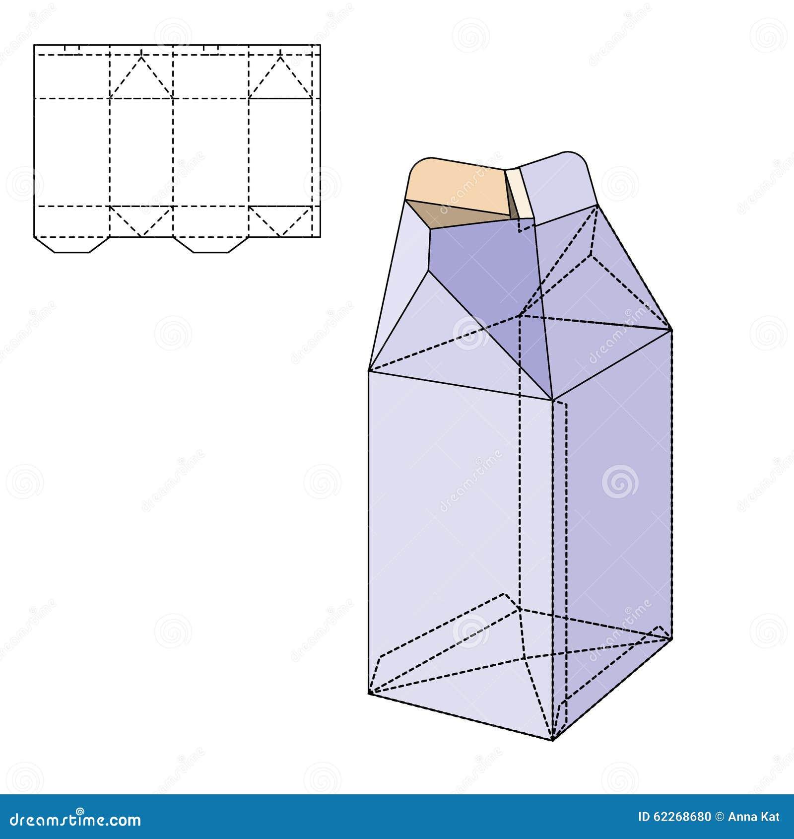 Box die line stock vector illustration of mock mockup 62268680 box die line maxwellsz