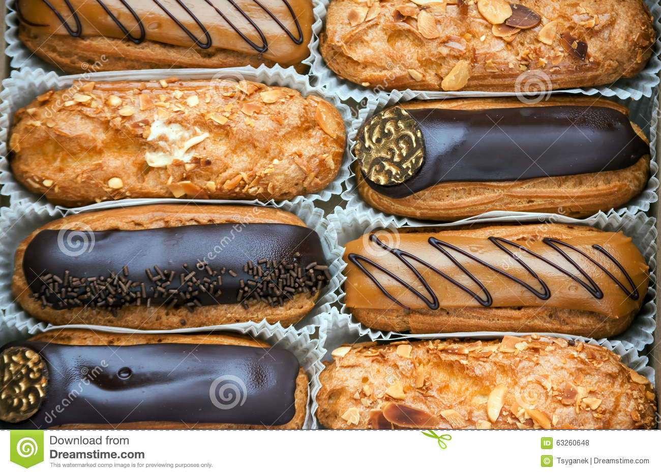 A box of eclairs