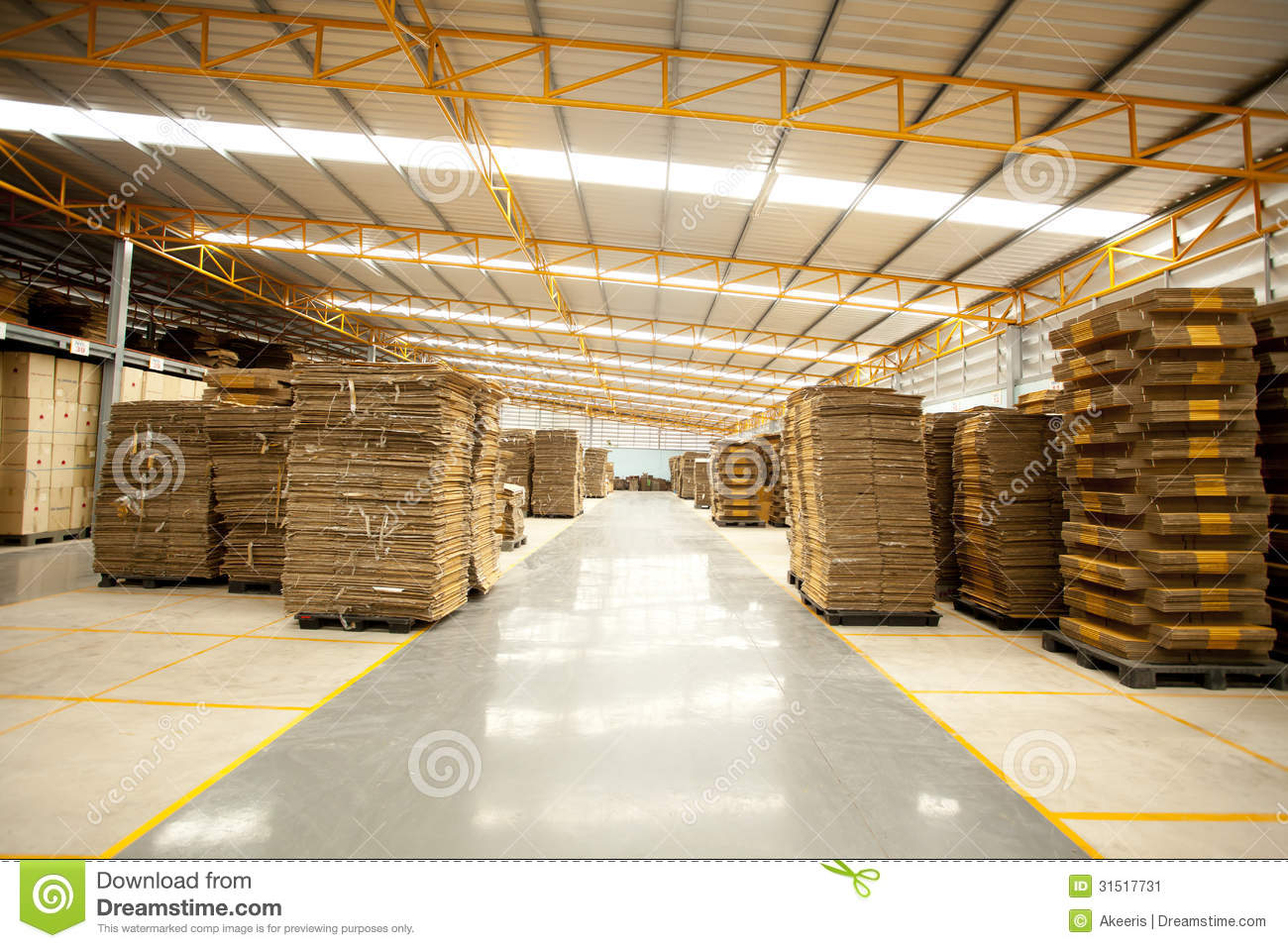 Box Factory Stock Image Image 31517731