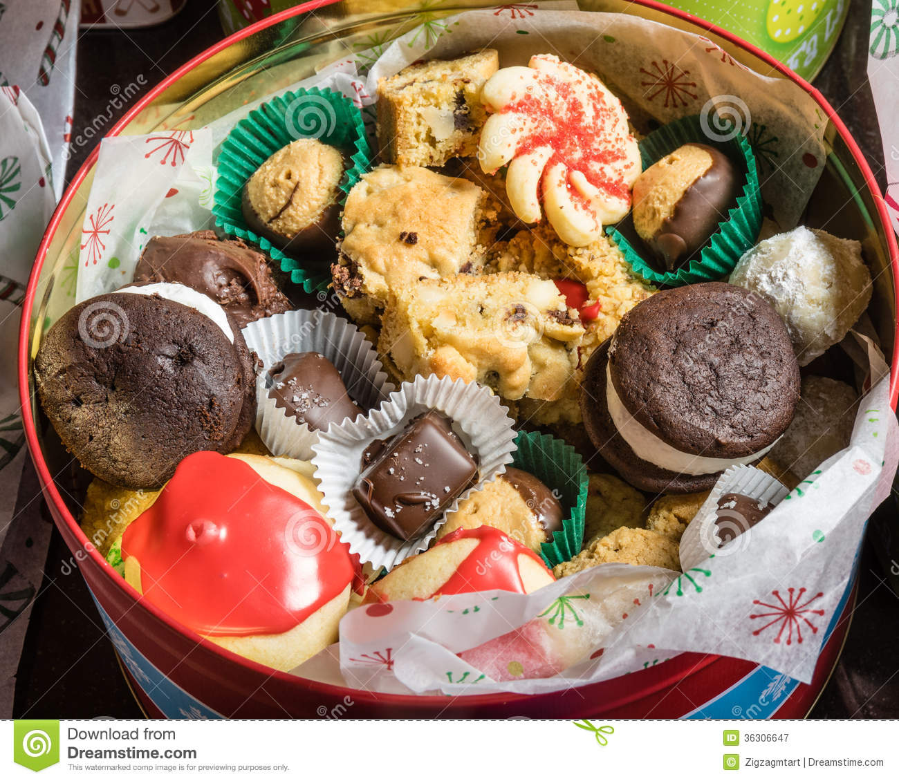 Box Of Fancy Cookies For Holiday Stock Image Image Of Treat Goods
