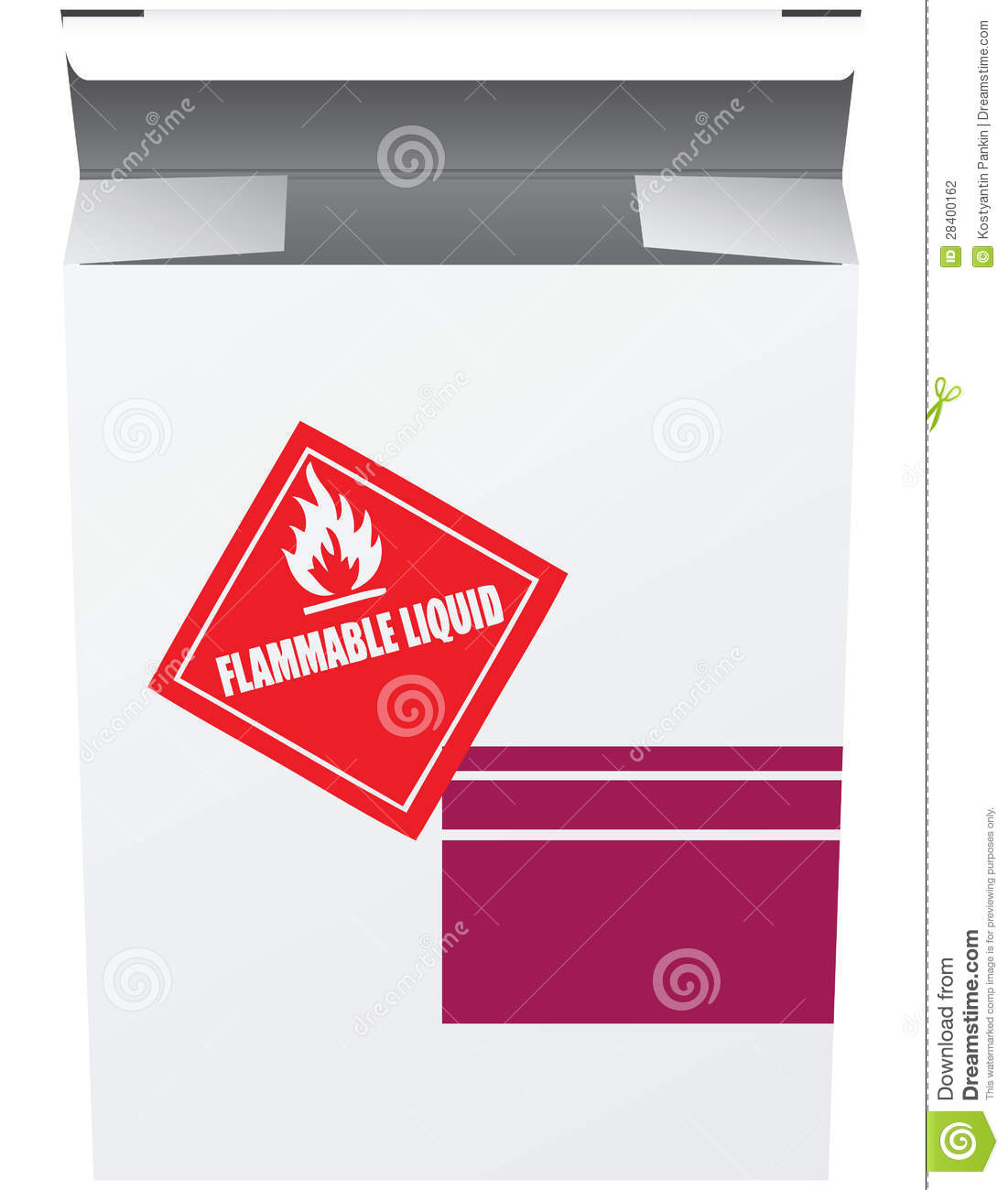 Box For Flammable Liquid Stock Vector Illustration Of Background