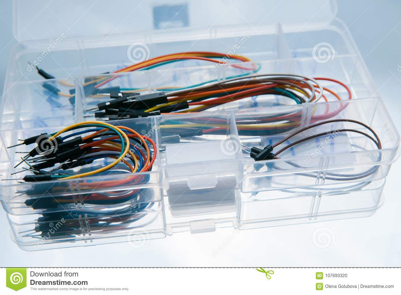 Box Jump Wires Cables White Background Stock Photo - Image of refit ...