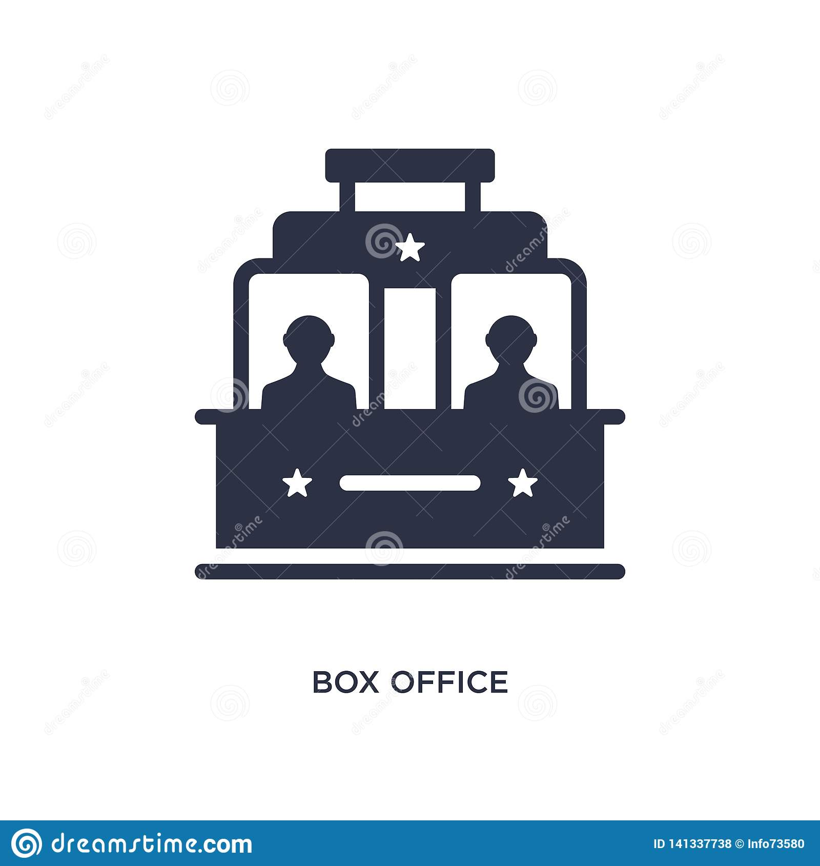 box office icon on white background. Simple element illustration from cinema concept