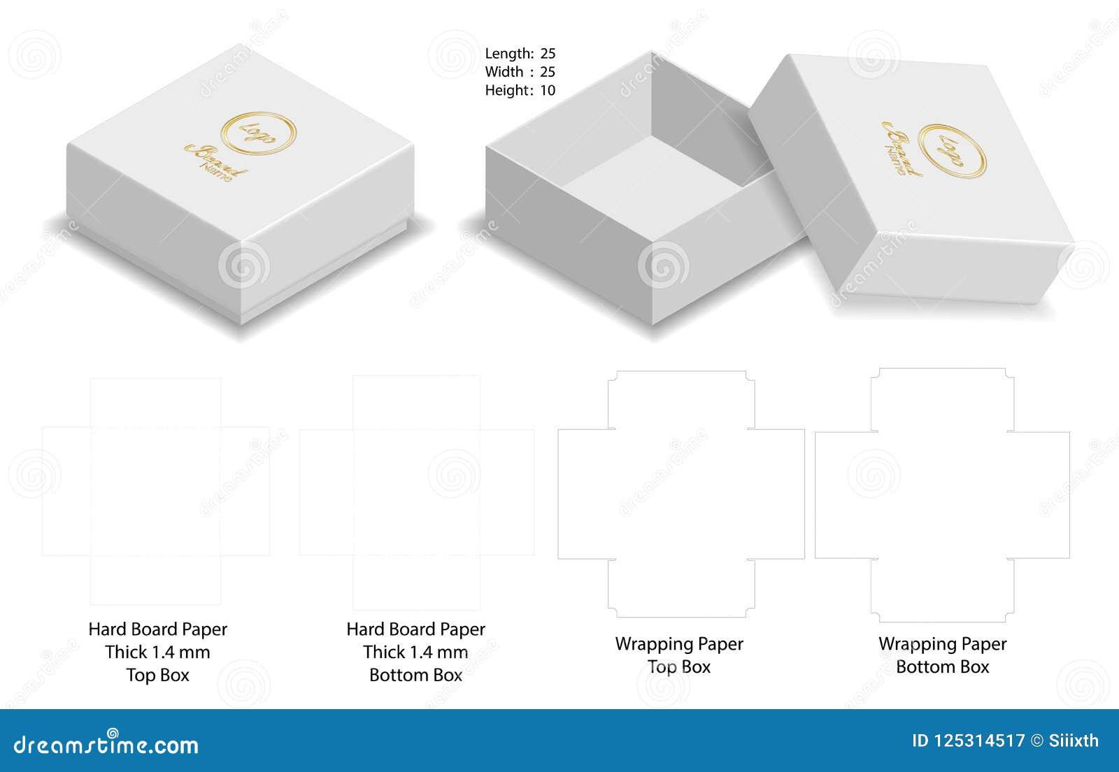 A Box Packaging Die Cut Template Design 3d Mock Up
