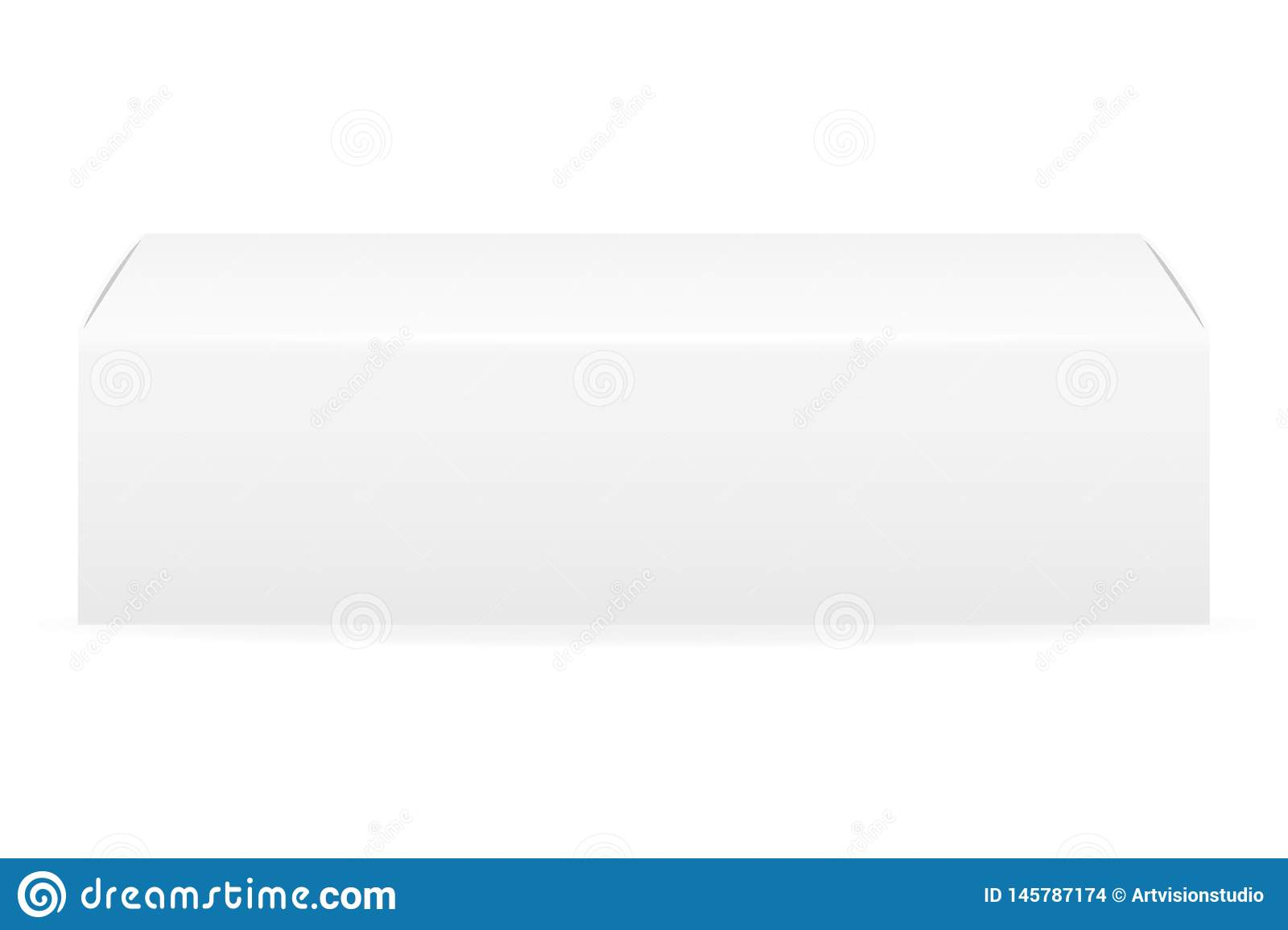 Box Packaging Of Toothpaste Empty Template For Design Stock Vector Illustration Stock Vector Illustration Of Illustration Object 145787174