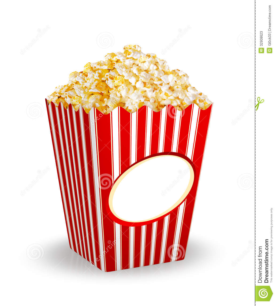 Box Of Popcorn Stock Photos - Image: 32908623