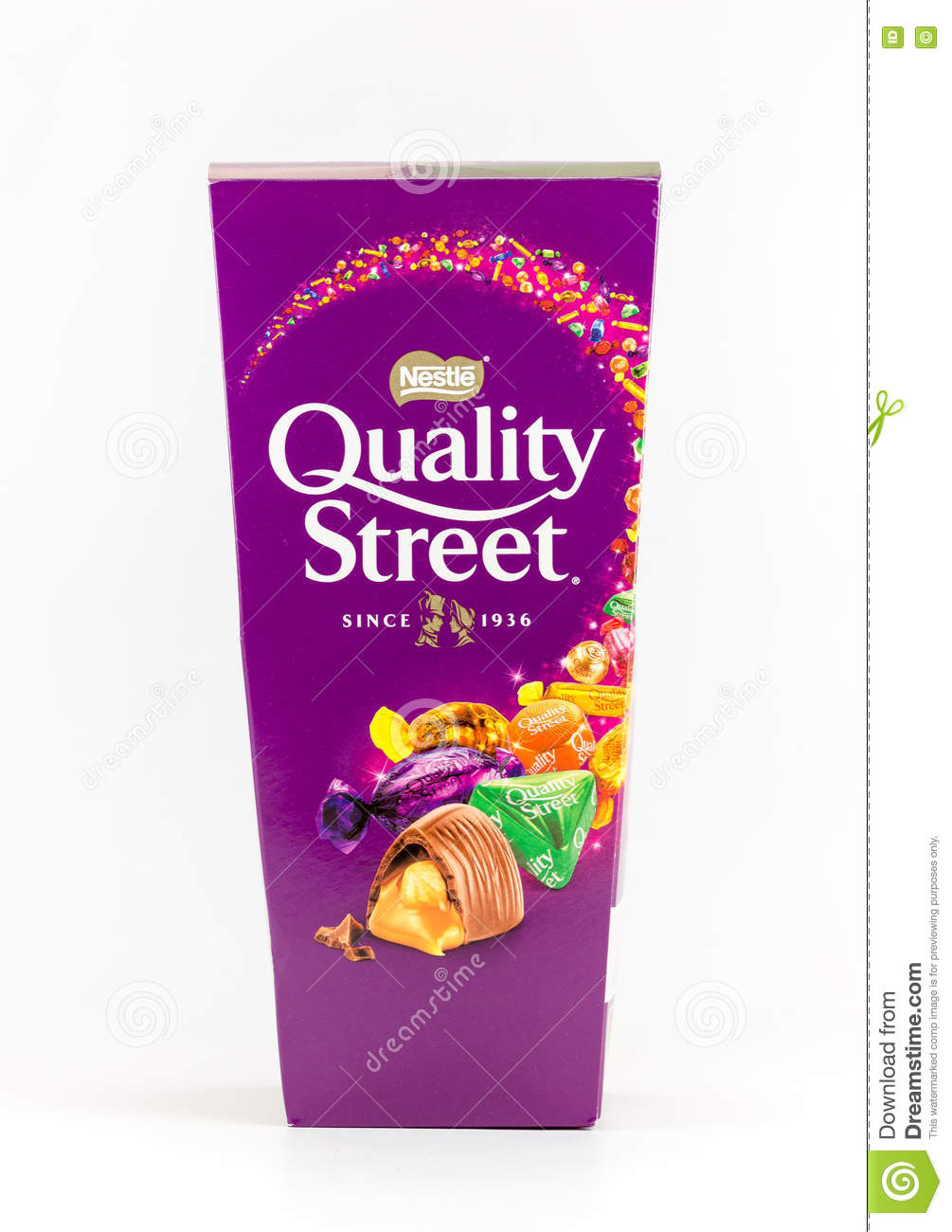 Box Of Quality Street Chocolate Sweets. Editorial Stock Image ...