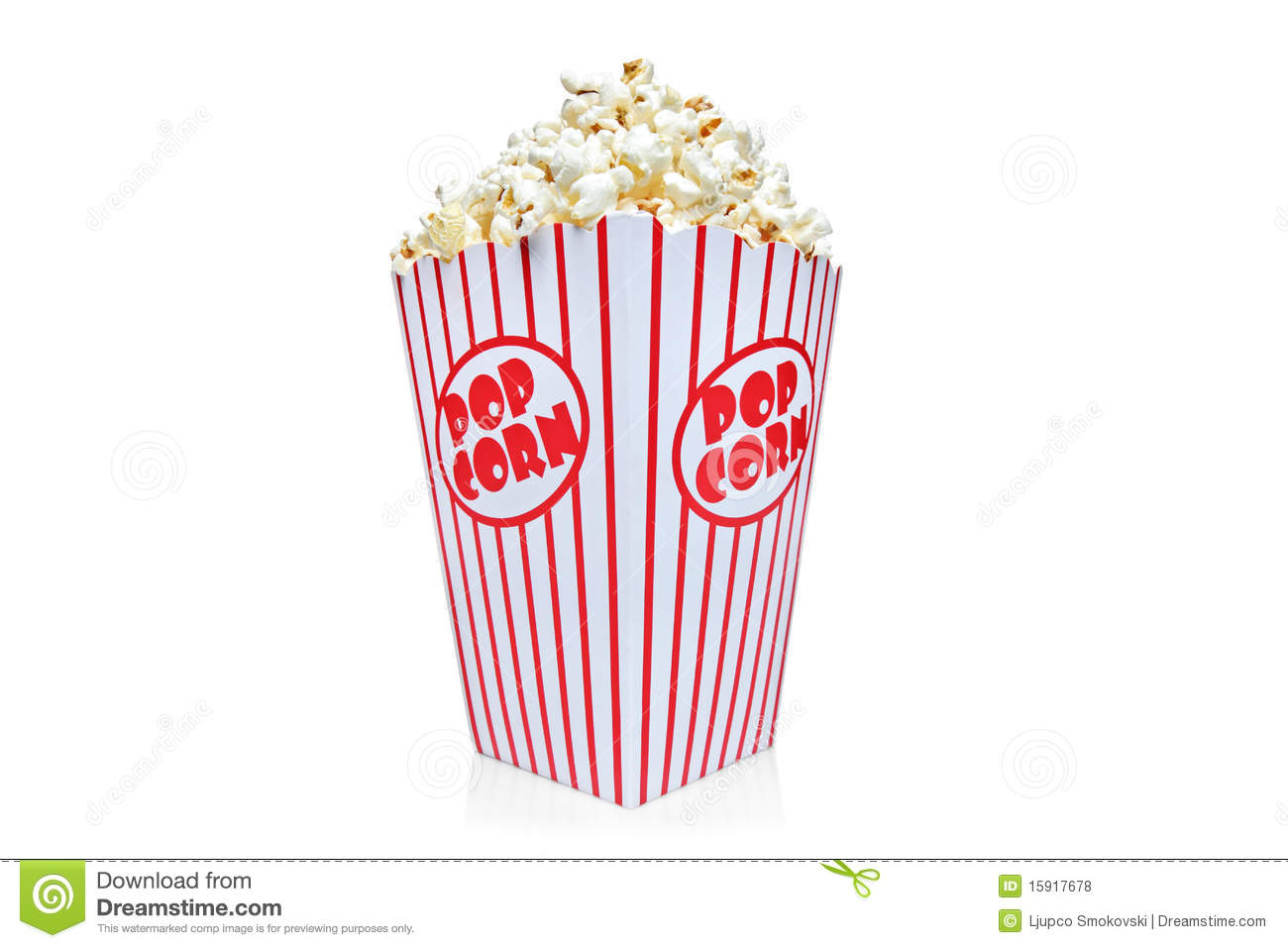 Box Of Red And White Popcorn Box Stock Photo - Image: 15917678