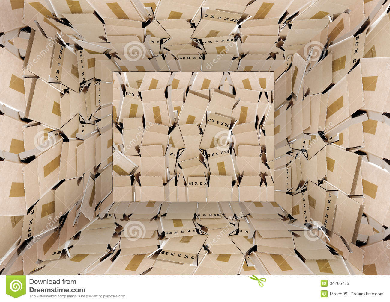 The Box Room Stock Image Image Of Packing Floor Empty - Box room
