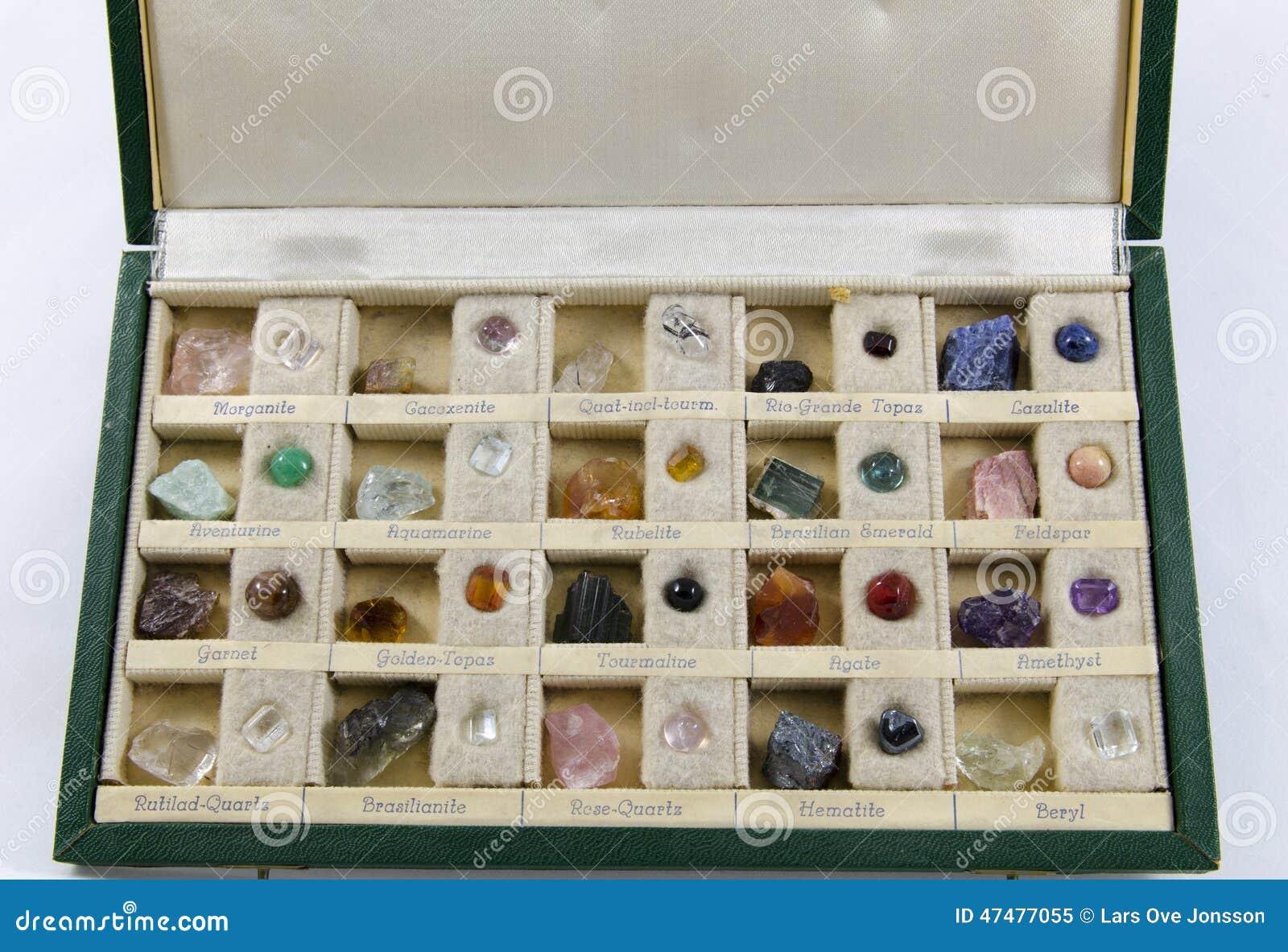 Box of stones stock image. Image of jewelry, treasure - 47477055