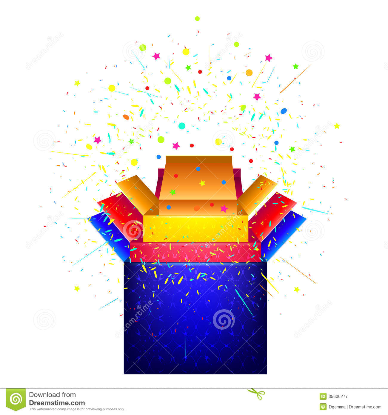 box with surprise  royalty free stock photography