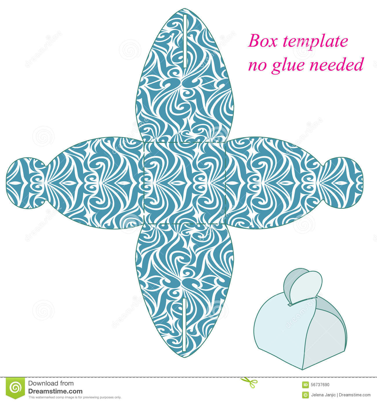 Cake Box Design Vector