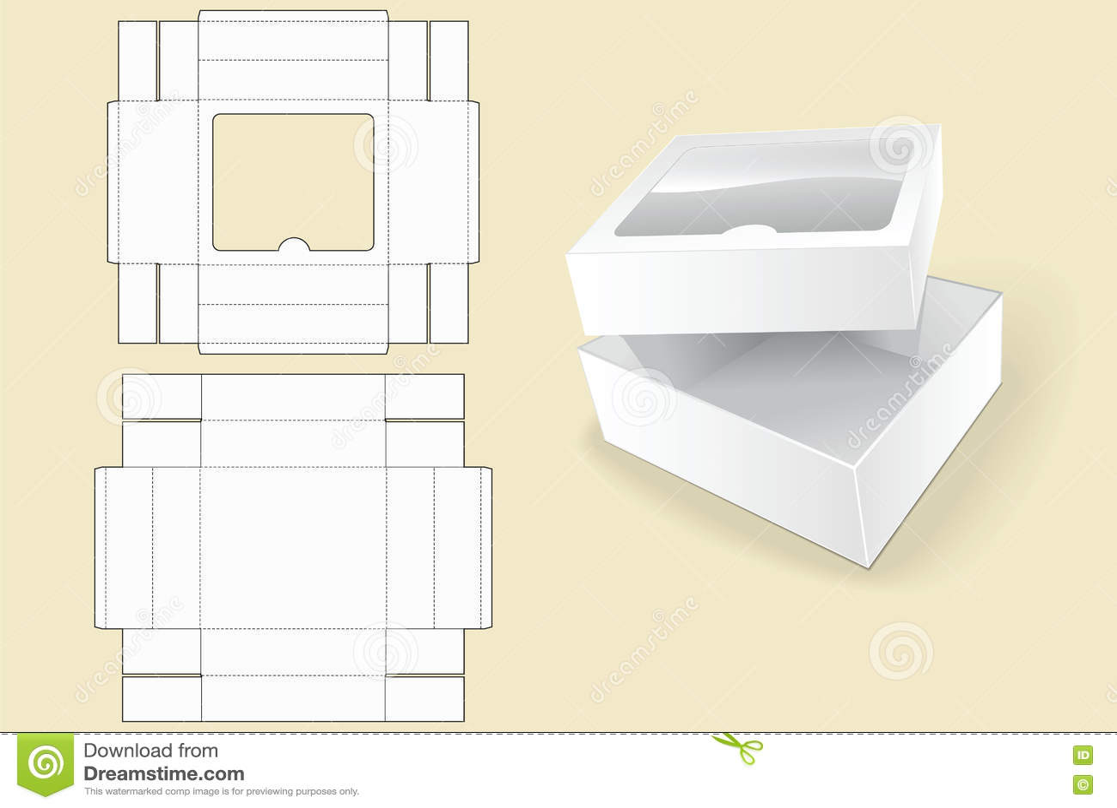 box template packaging white cardboard box opened white cardboard