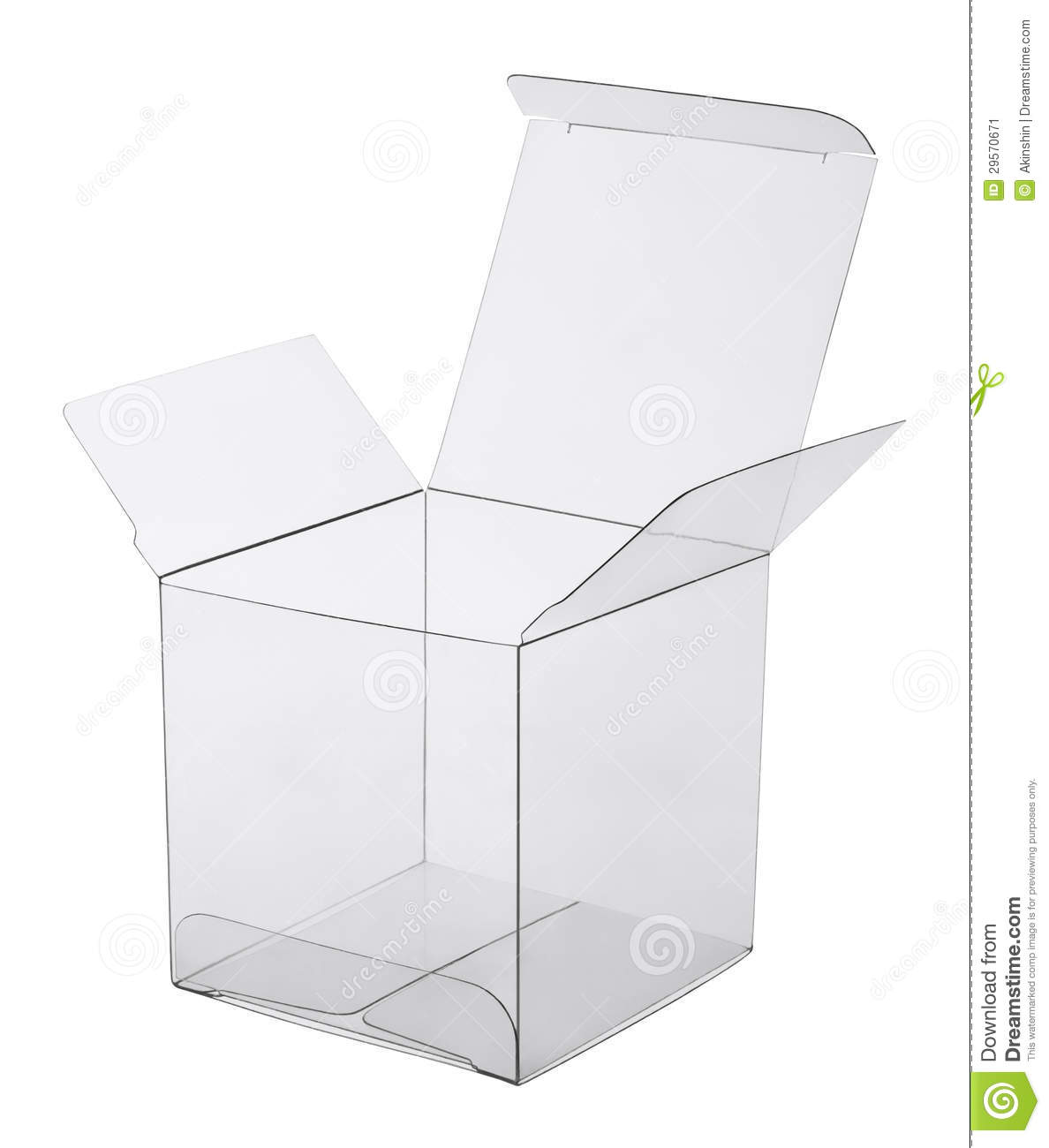 Box Of Transparent Plastic Stock Image Image 29570671