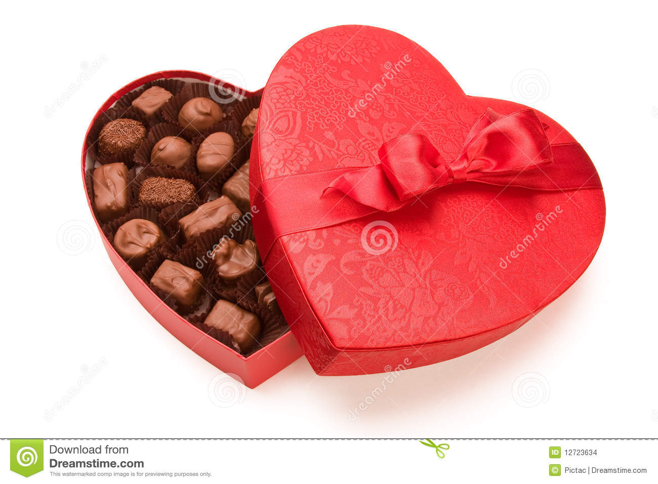 A Box Of Valentine S Chocolate Stock Photo Image Of Anniversary