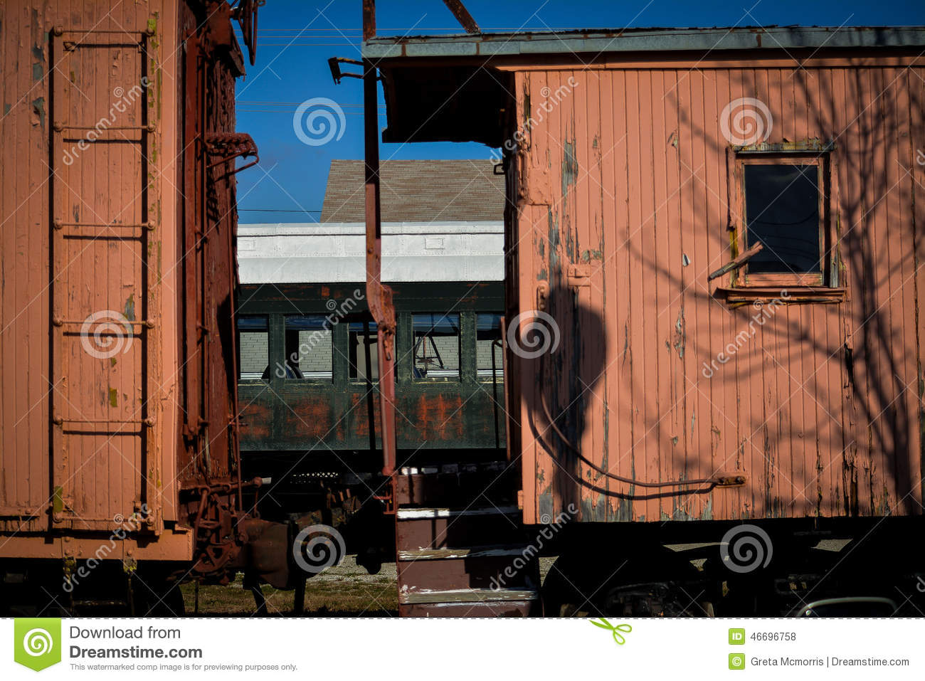 Boxcar τραίνων Weahtered