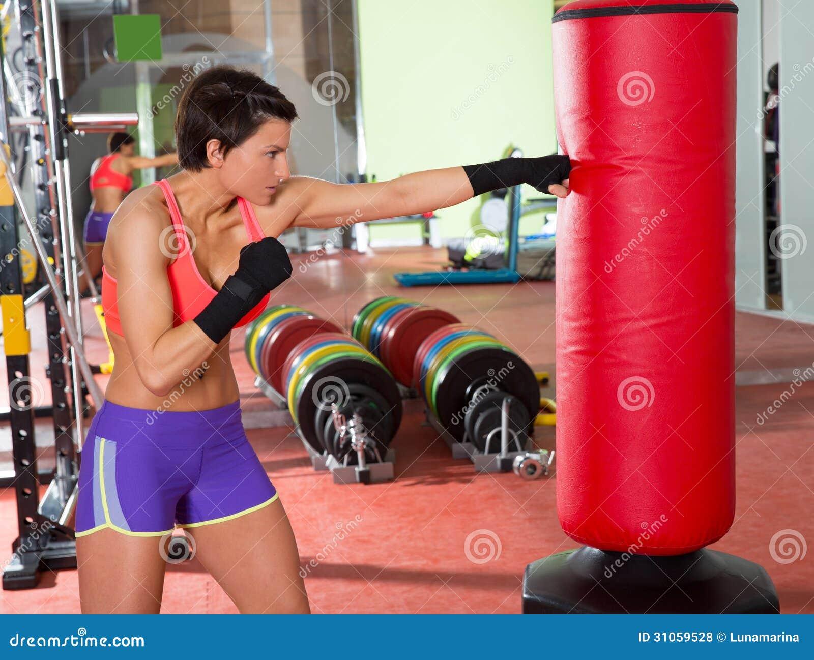 Boxe Crossfit Sac Photo Femme Le Stock Rouge Sable De Avec YfbmgyI76v