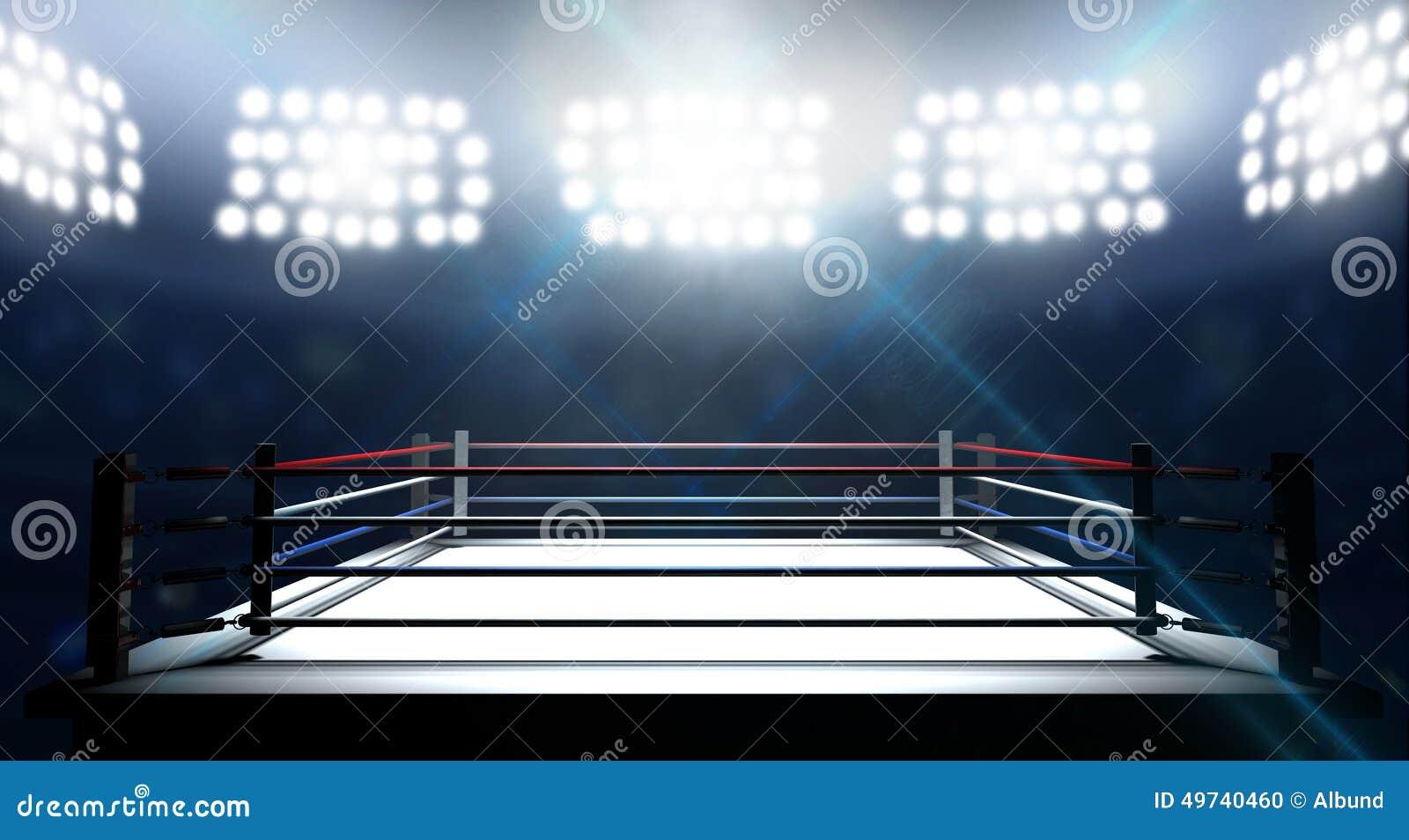 Boxe Ring In Arena
