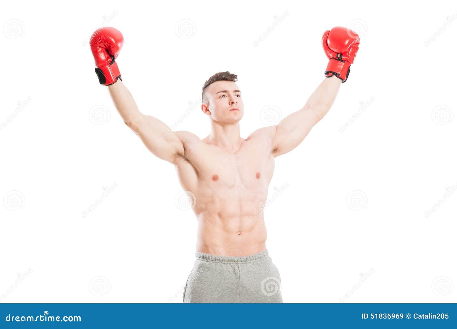 Boxeador del ganador o del campeón