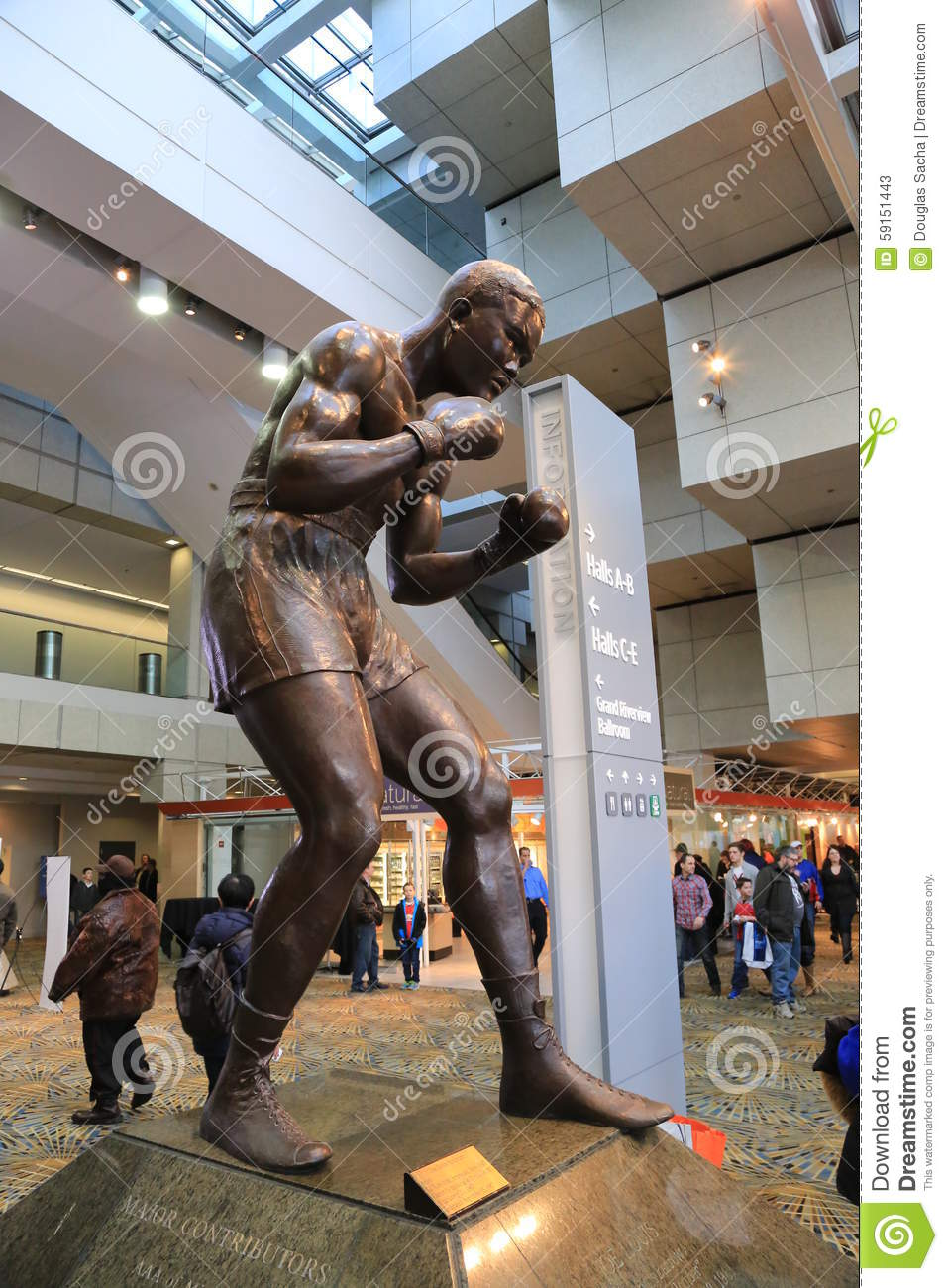 Boxeador profesional Joe Louis Sculpture