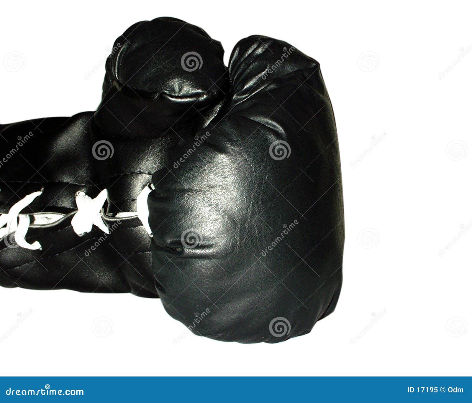Boxender schwarzer Handschuh