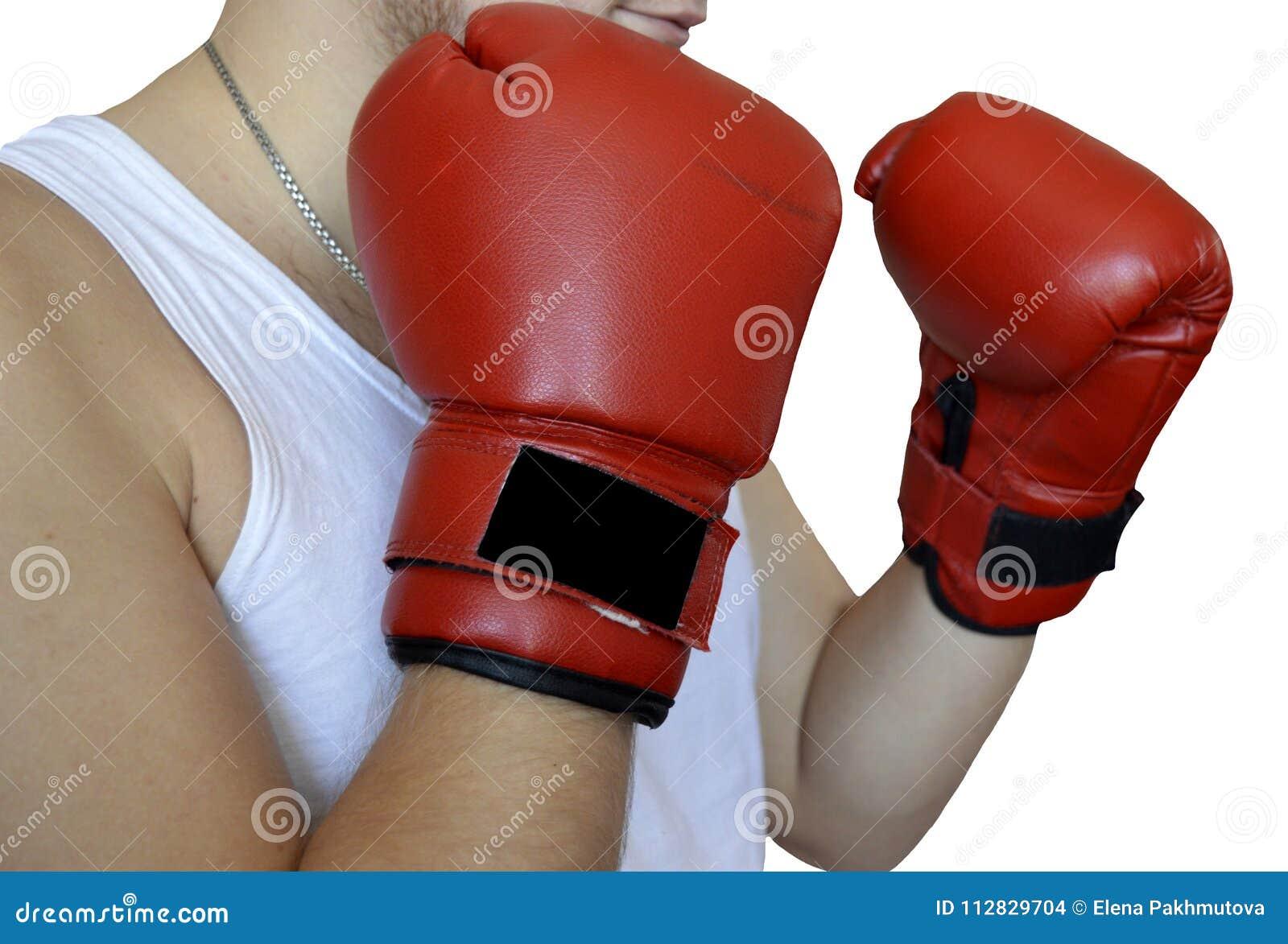 Boxeo, guante, rojo, deporte, caja, aislada, guantes, lucha, boxeador, guante de boxeo, blanco, equipo, sacador, competencia, luc