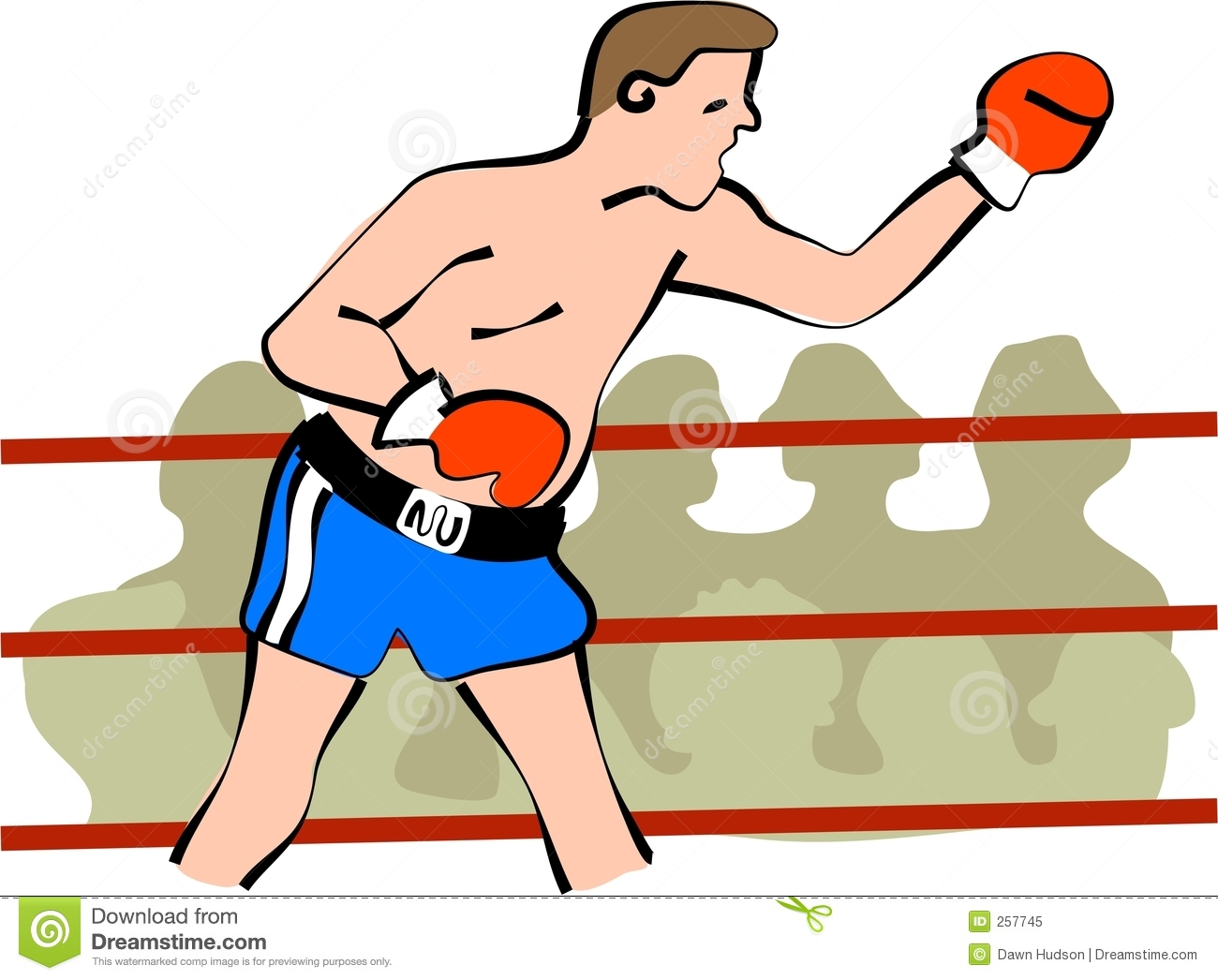 Boxer Stock Illustration Illustration Of Ring Clipart 257745