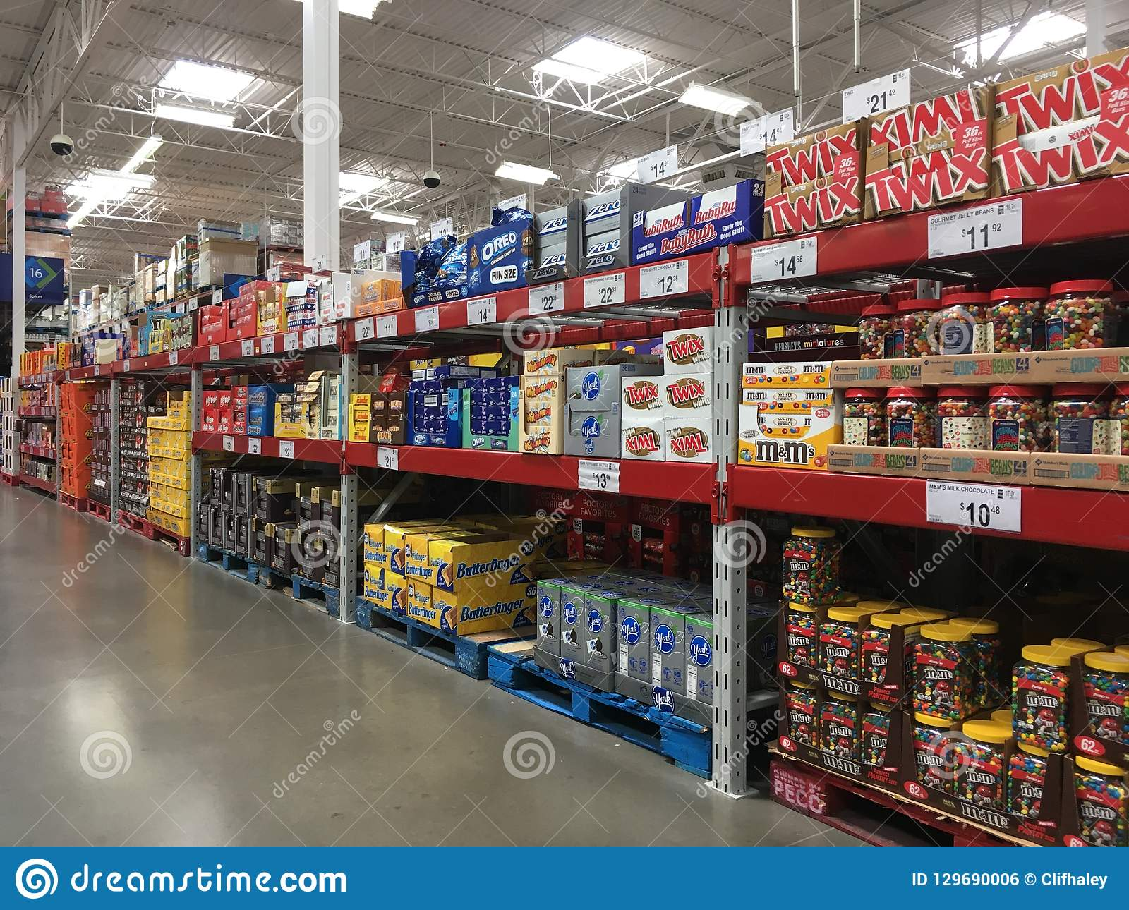 Candy For Sale In Sam`s Club Store Editorial Photo   Image of