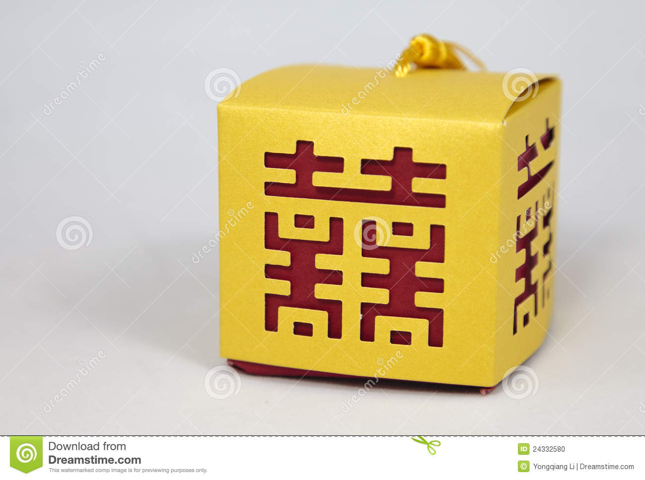 Boxes with Chinese Marriage Happiness Symbol