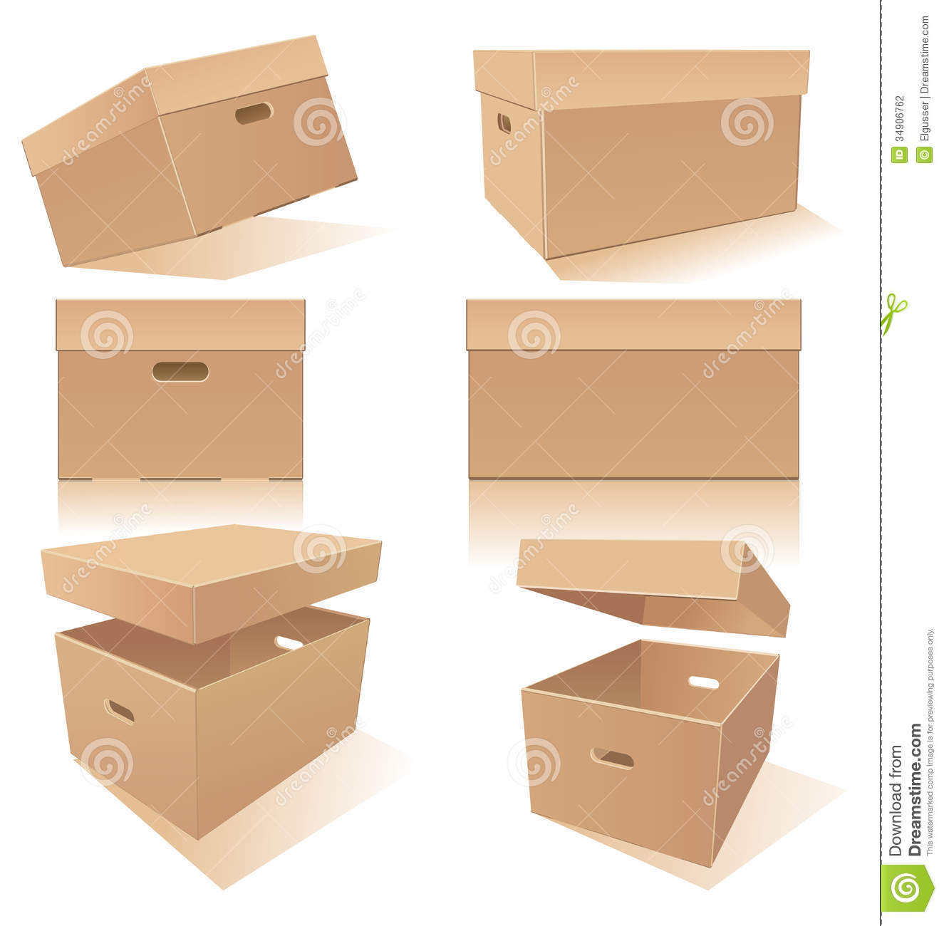 Boxes With Handles And Lids Stock Photography Image
