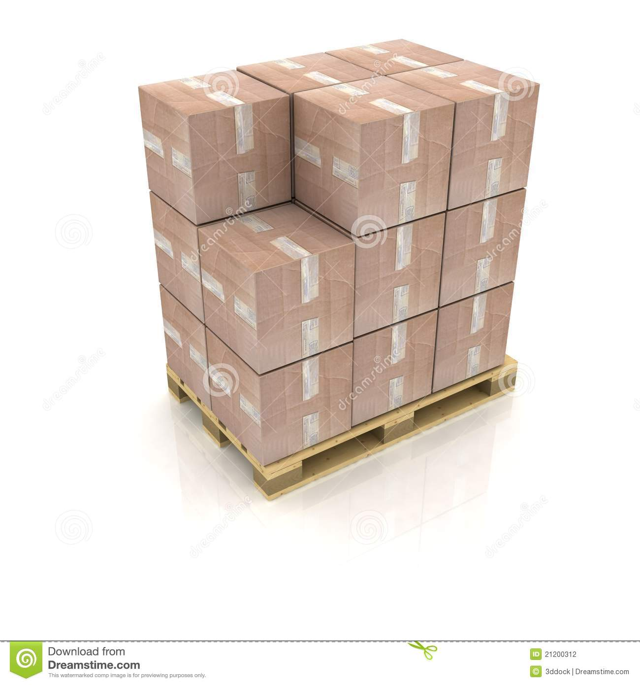 Boxes On Pallet Stock Photography - Image: 21200312