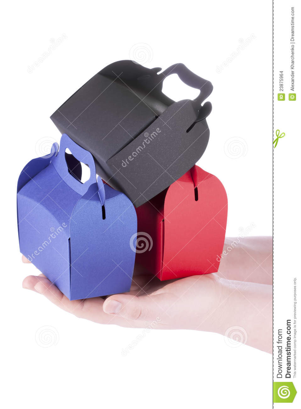 Boxes Set in the hands