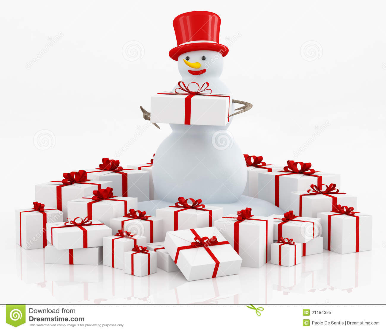 Boxes and snowman