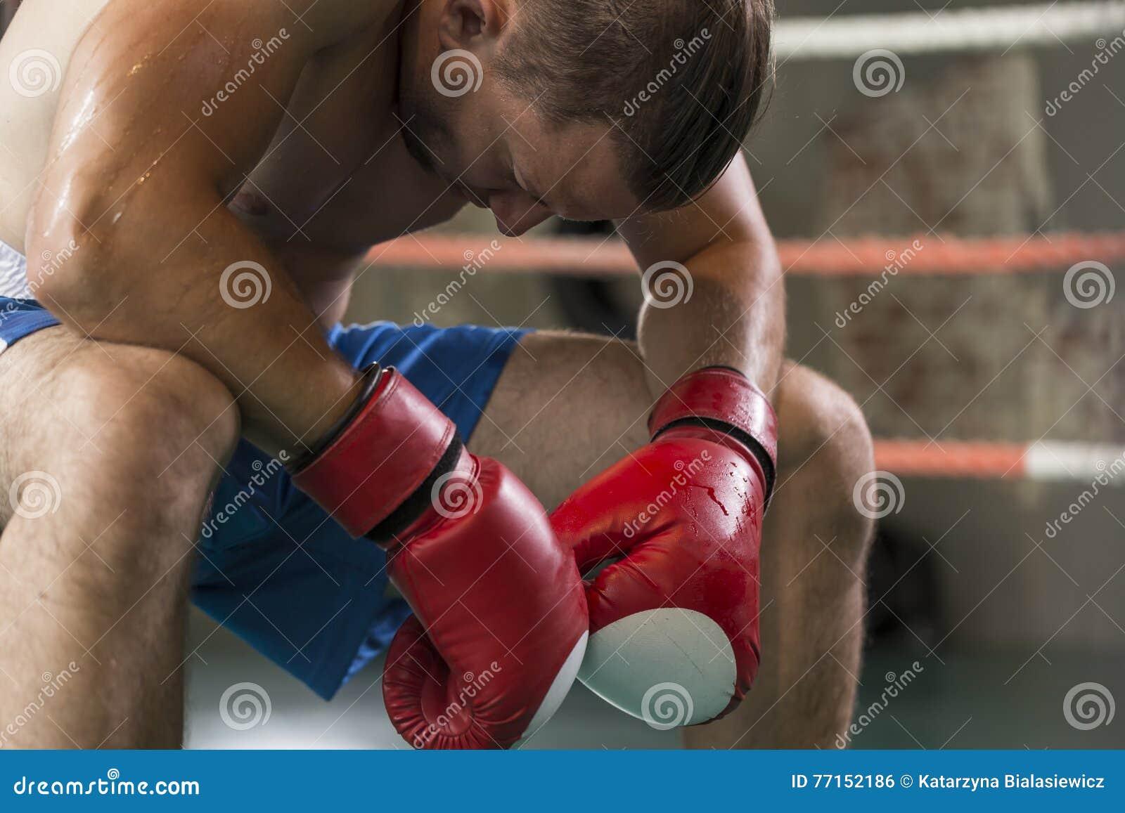Boxeur dans le coin