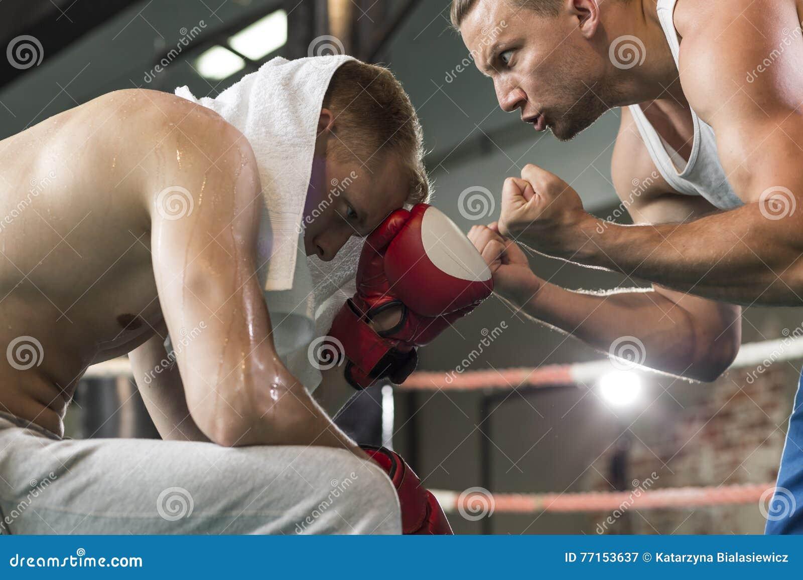 Boxeur de enseignement d instructeur